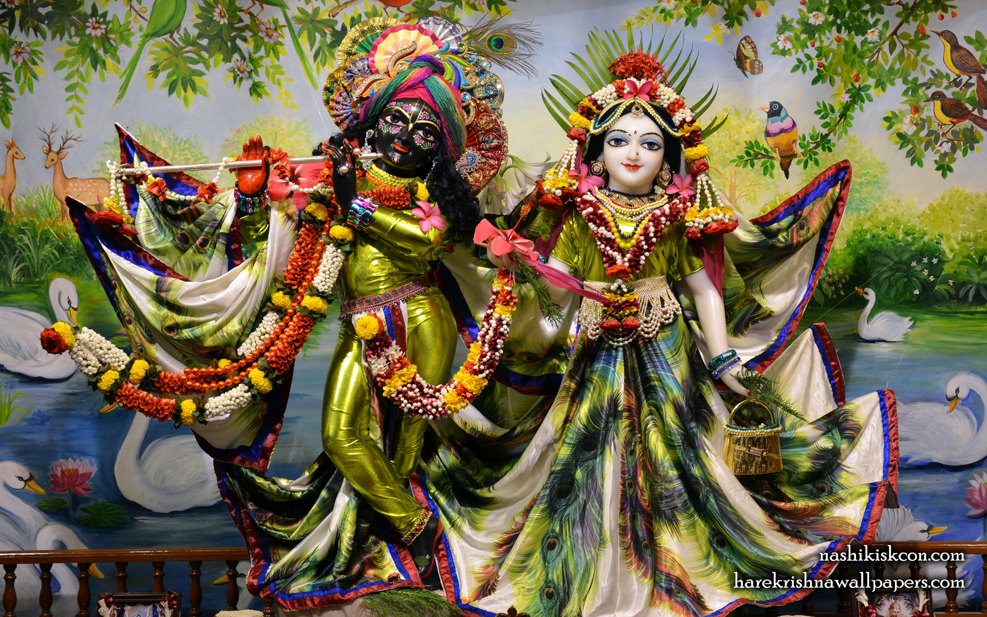 Sri Sri Radha Madan Gopal Wallpaper (004) Size 1920x1200 Download