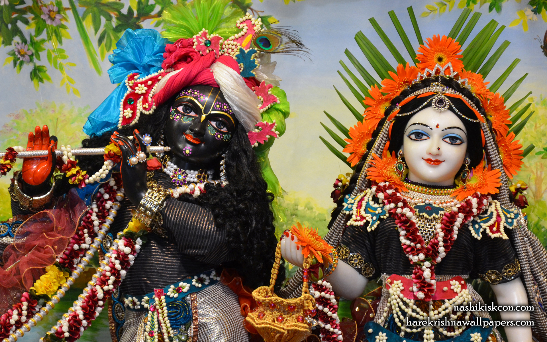 Sri Sri Radha Madan Gopal Close up Wallpaper (004) Size 1920x1200 Download
