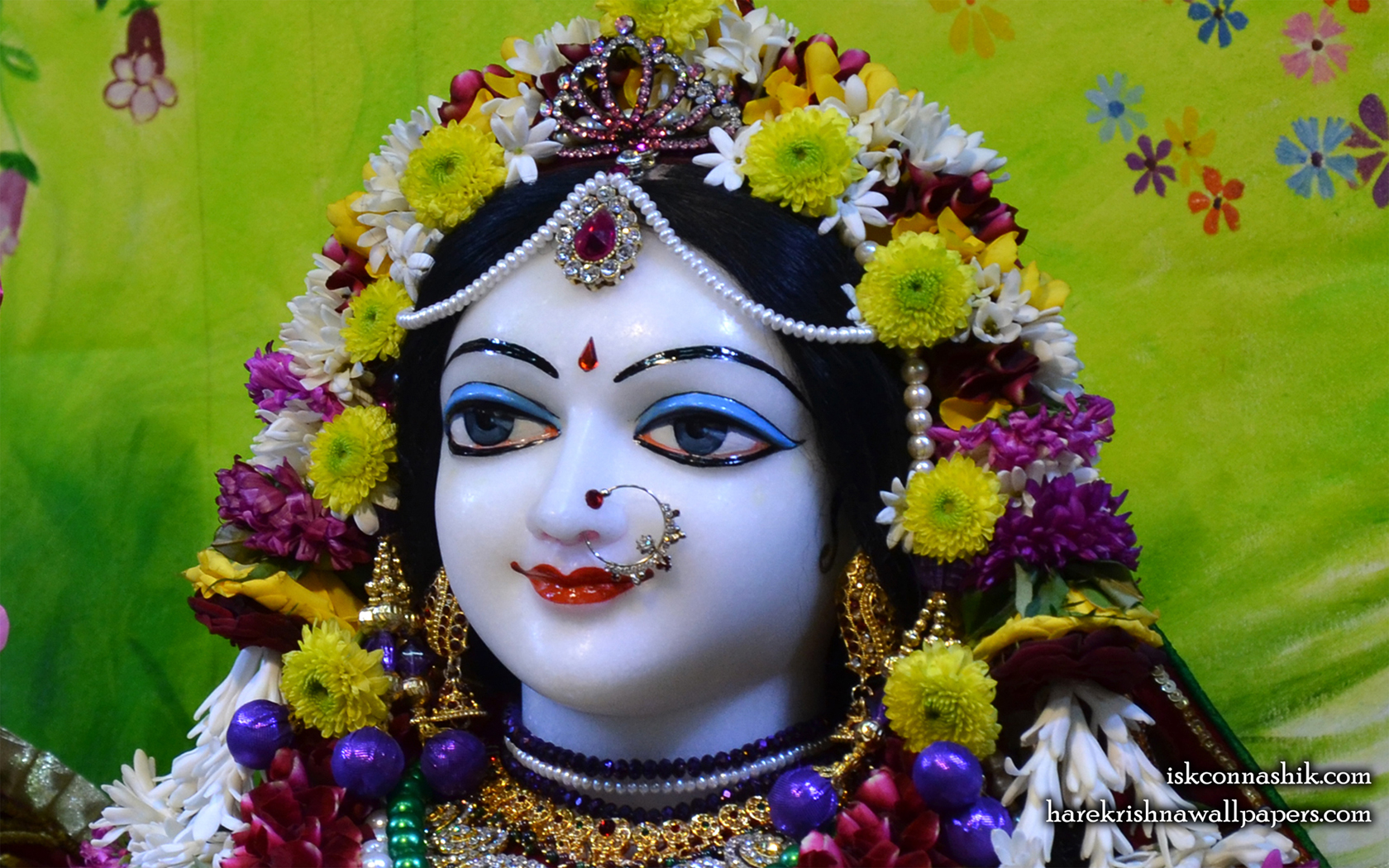 Sri Radha Close up Wallpaper (005) Size 1680x1050 Download