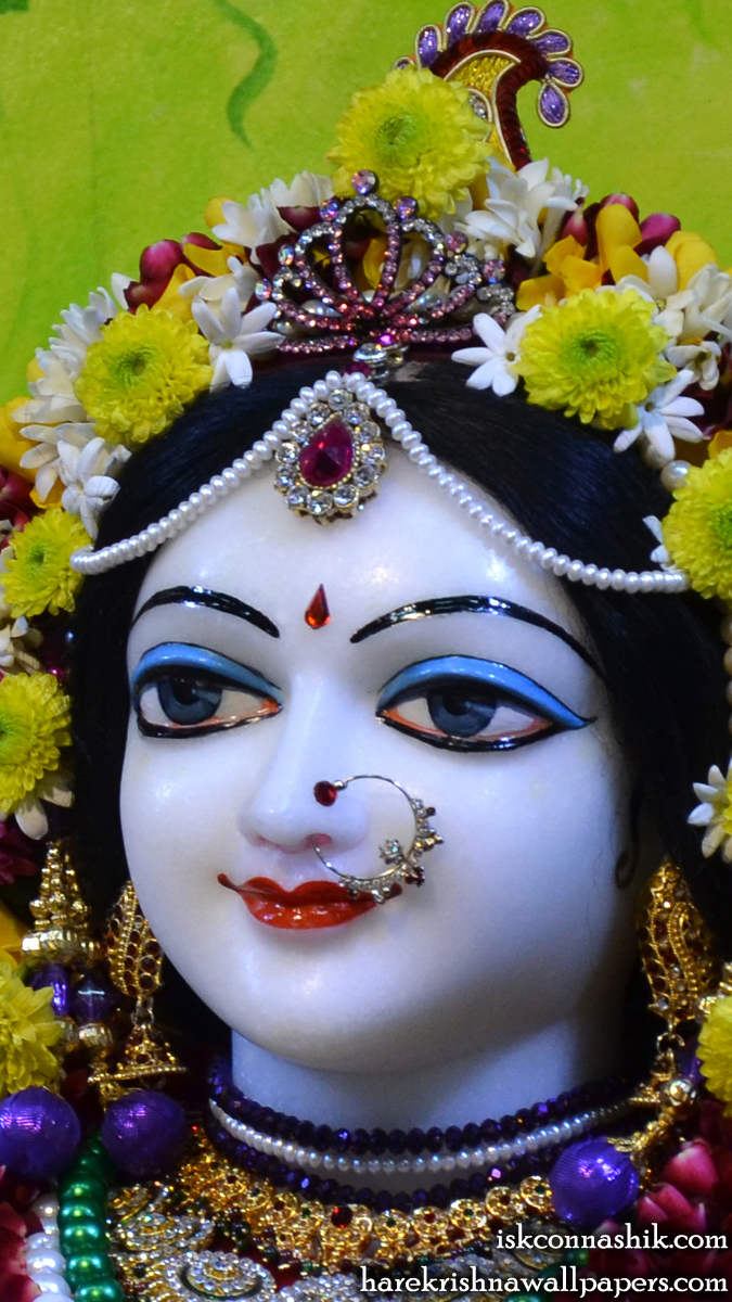 Sri Radha Close up Wallpaper (005) Size 675x1200 Download