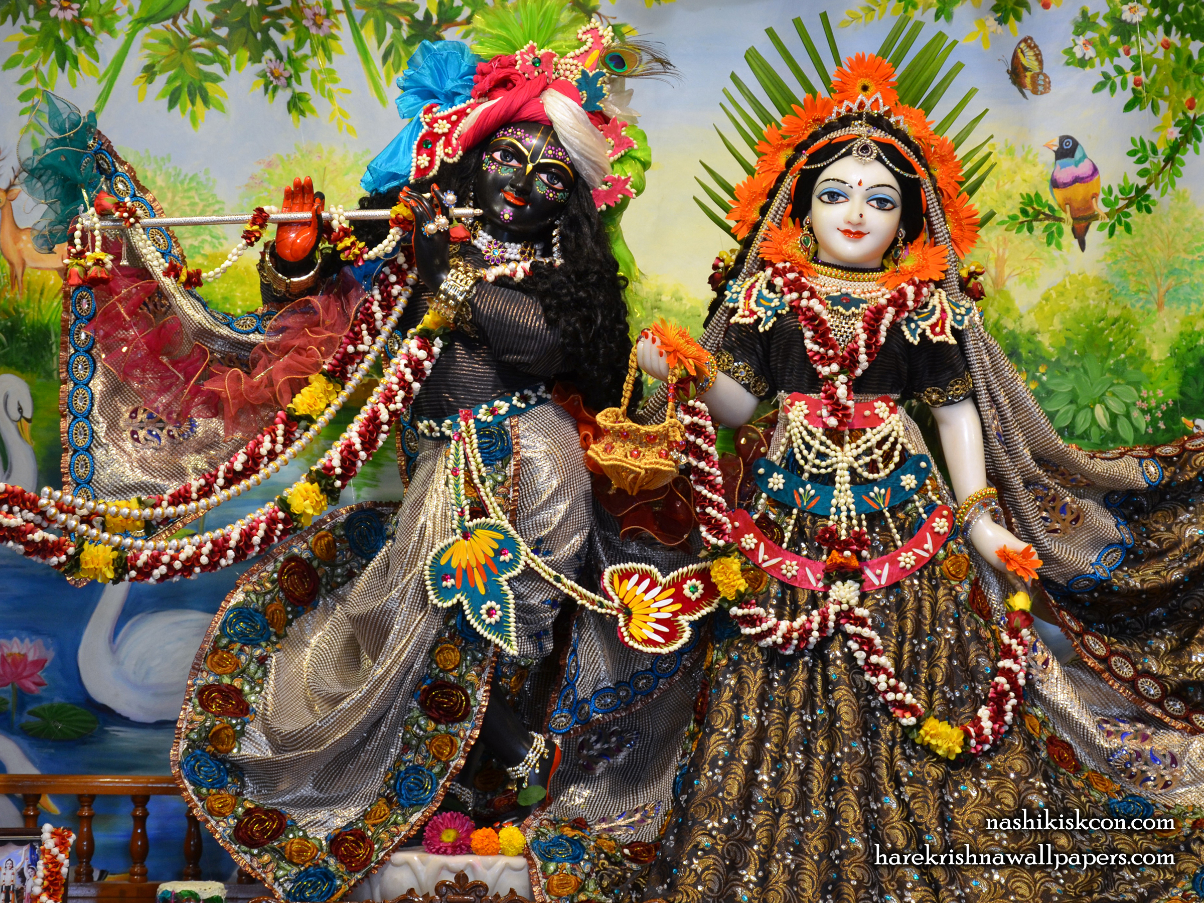 Sri Sri Radha Madan Gopal Wallpaper (005) Size 2400x1800 Download