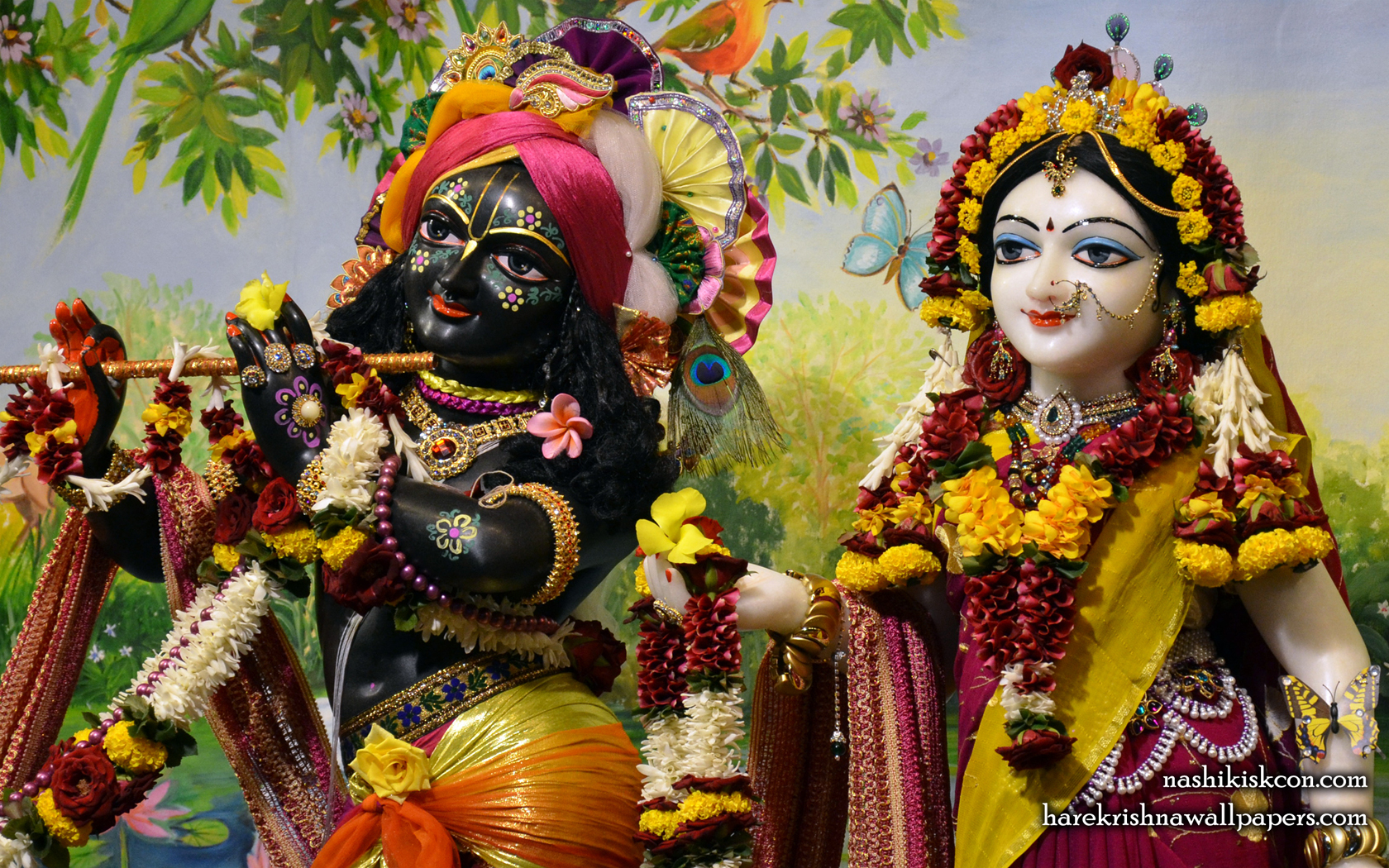 Sri Sri Radha Madan Gopal Close up Wallpaper (005) Size 1680x1050 Download