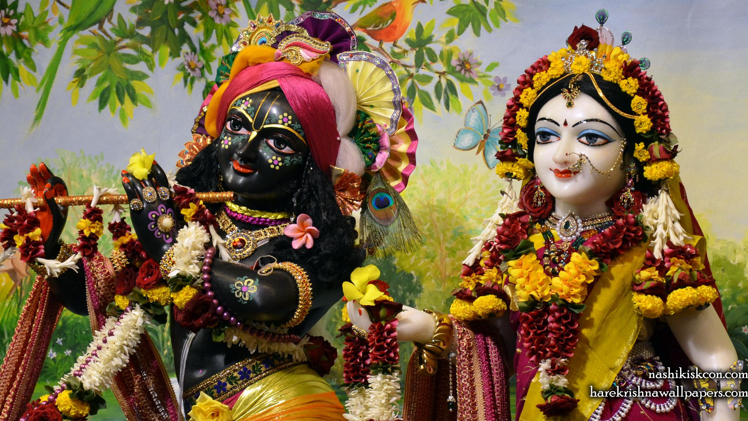 Sri Sri Radha Madan Gopal Close up Wallpaper (005) Size 2400x1350 Download
