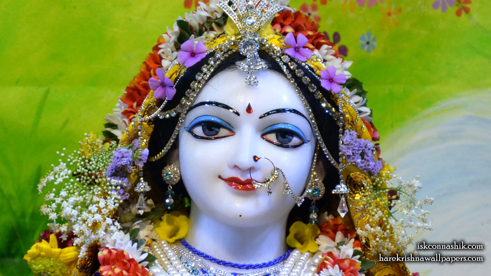 Sri Radha Close up Wallpaper (006) Size 1600x900 Download
