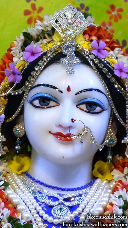 Sri Radha Close up Wallpaper (006) Size 450x800 Download