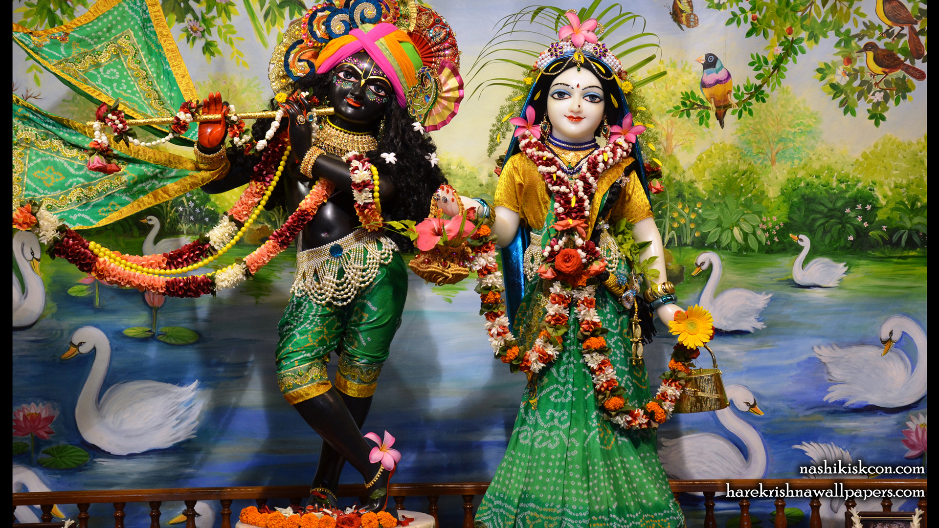 Sri Sri Radha Madan Gopal Wallpaper (006) Size 1920x1080 Download