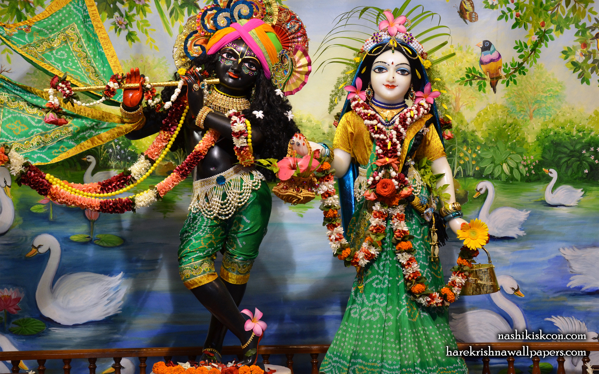 Sri Sri Radha Madan Gopal Wallpaper (006) Size 1920x1200 Download