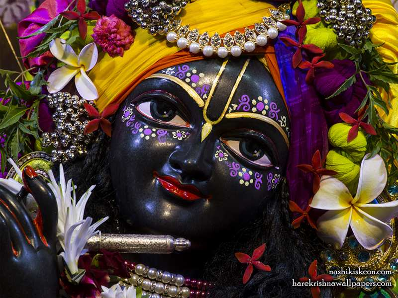 Sri Sri Radha Madan Gopal Close up Wallpaper (007)