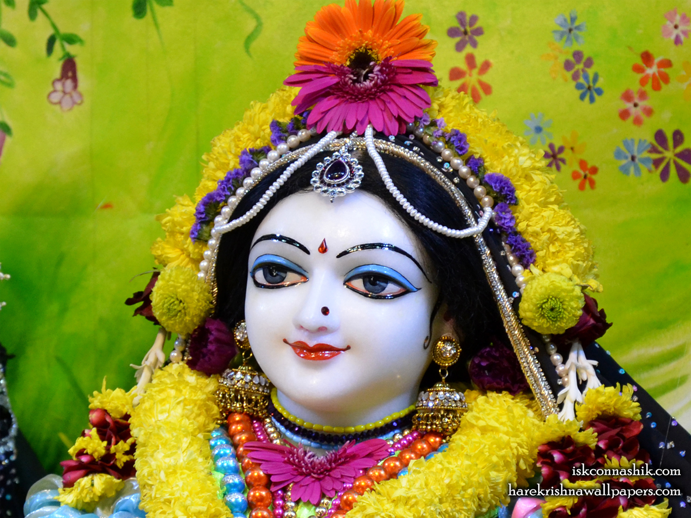 Sri Radha Close up Wallpaper (007) Size 1400x1050 Download