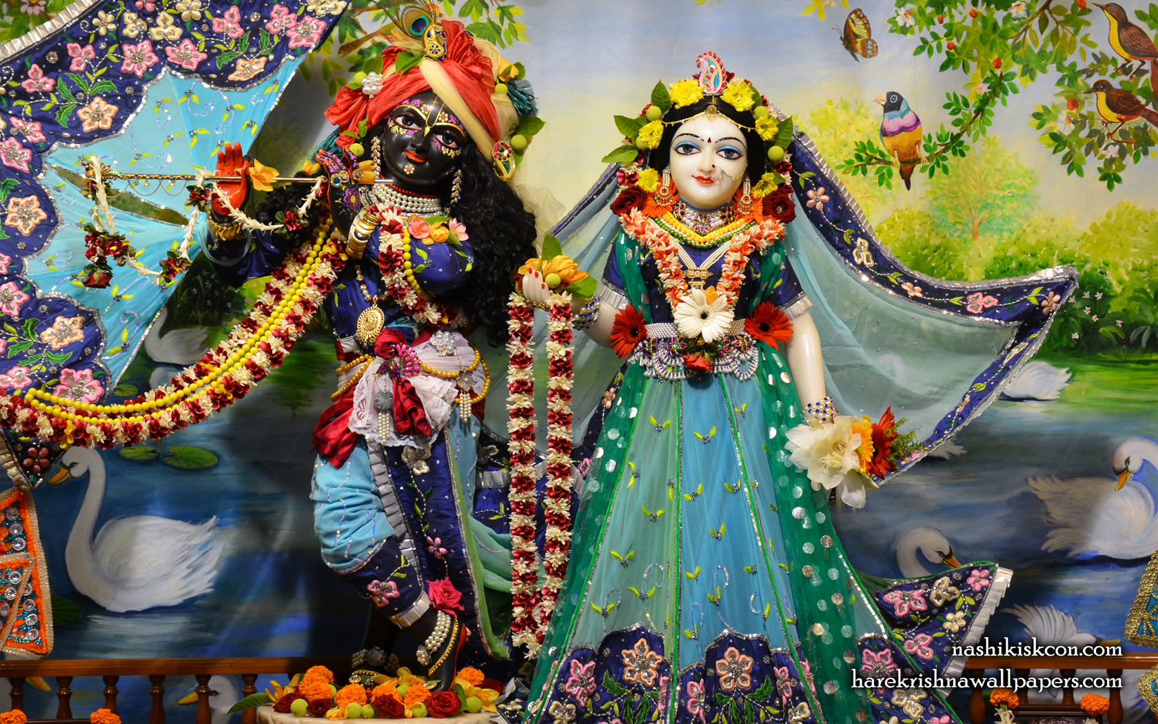 Sri Sri Radha Madan Gopal Wallpaper (007) Size 1680x1050 Download