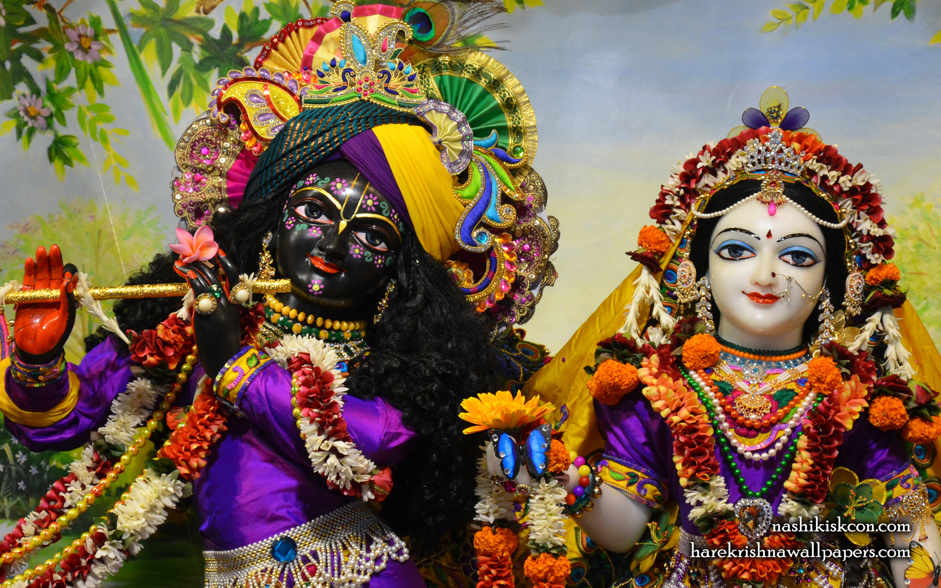 Sri Sri Radha Madan Gopal Close up Wallpaper (007) Size 1920x1200 Download