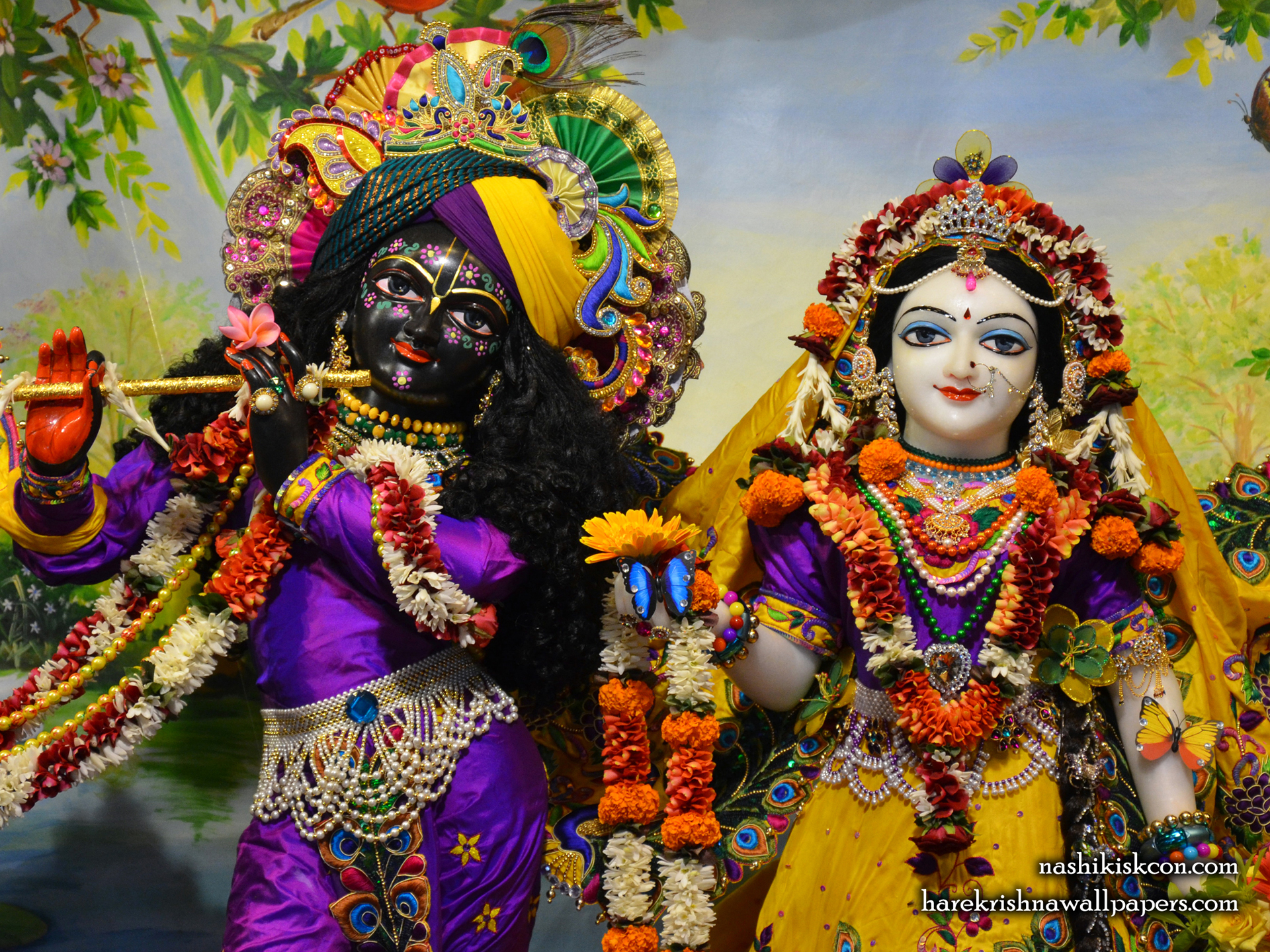 Sri Sri Radha Madan Gopal Close up Wallpaper (007) Size 1920x1440 Download