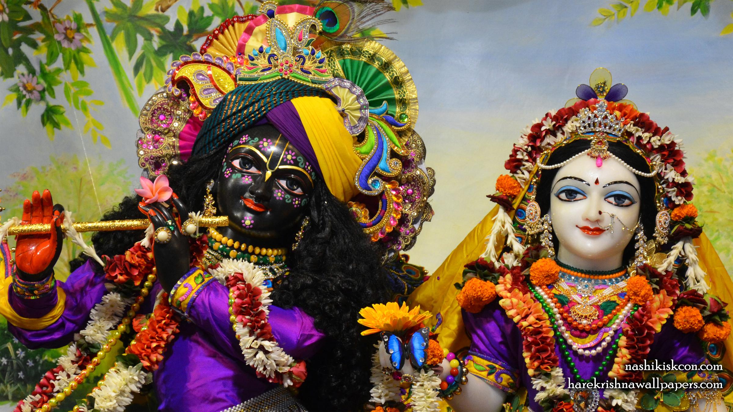 Sri Sri Radha Madan Gopal Close up Wallpaper (007) Size 2400x1350 Download