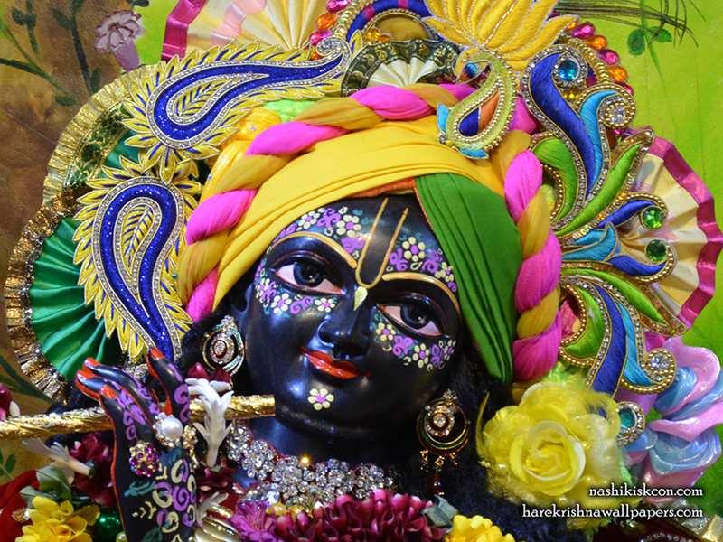 Sri Sri Radha Madan Gopal Close up Wallpaper (008)