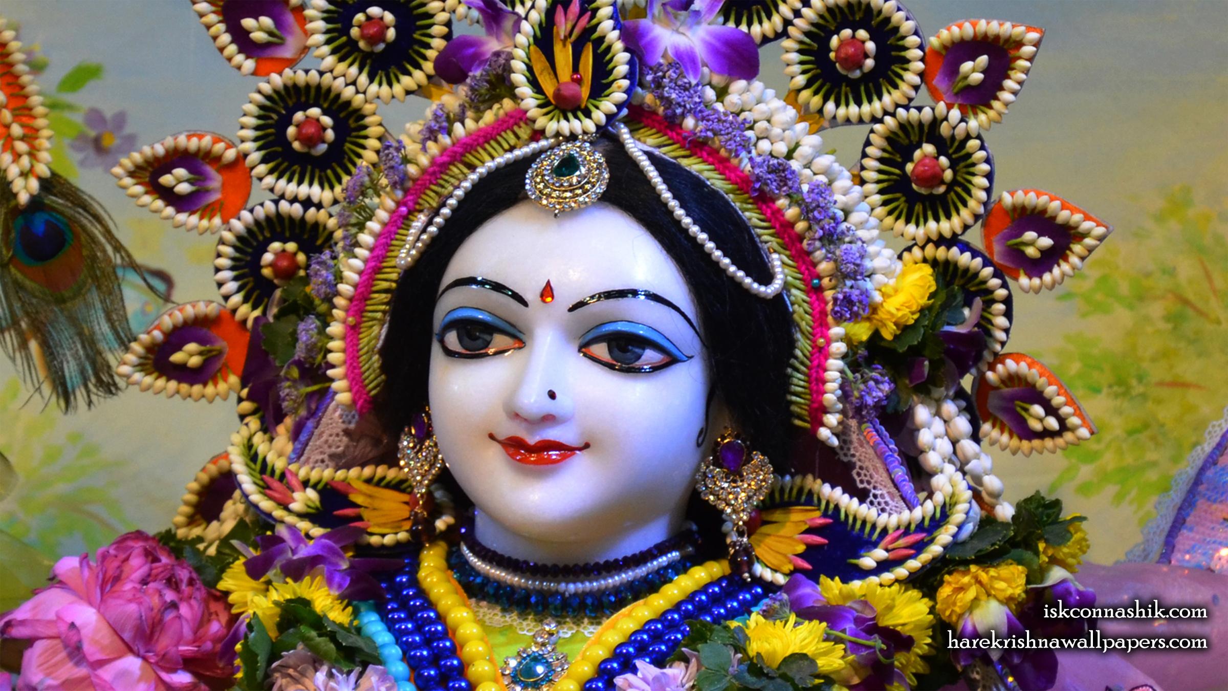 Sri Radha Close up Wallpaper (008) Size 2400x1350 Download