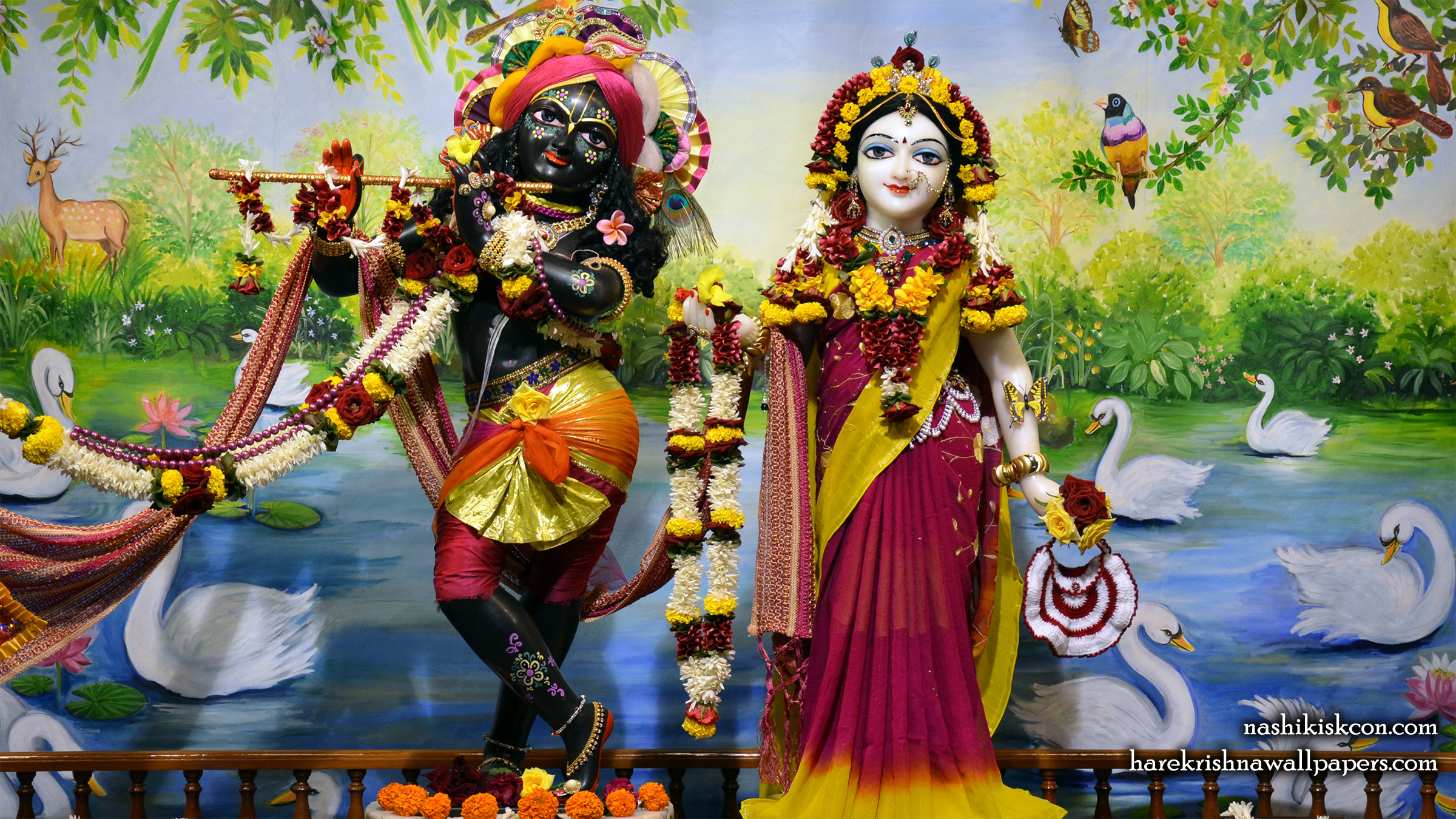 Sri Sri Radha Madan Gopal Wallpaper (008) Size 2400x1350 Download