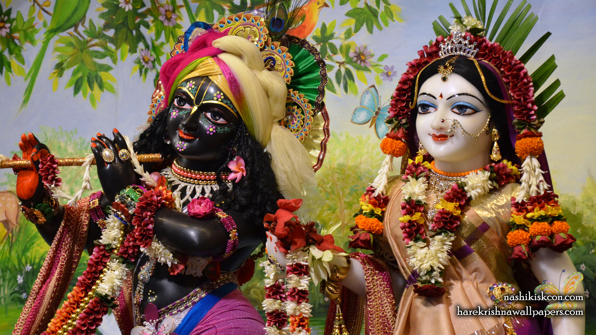 Sri Sri Radha Madan Gopal Close up Wallpaper (008) Size 1920x1080 Download
