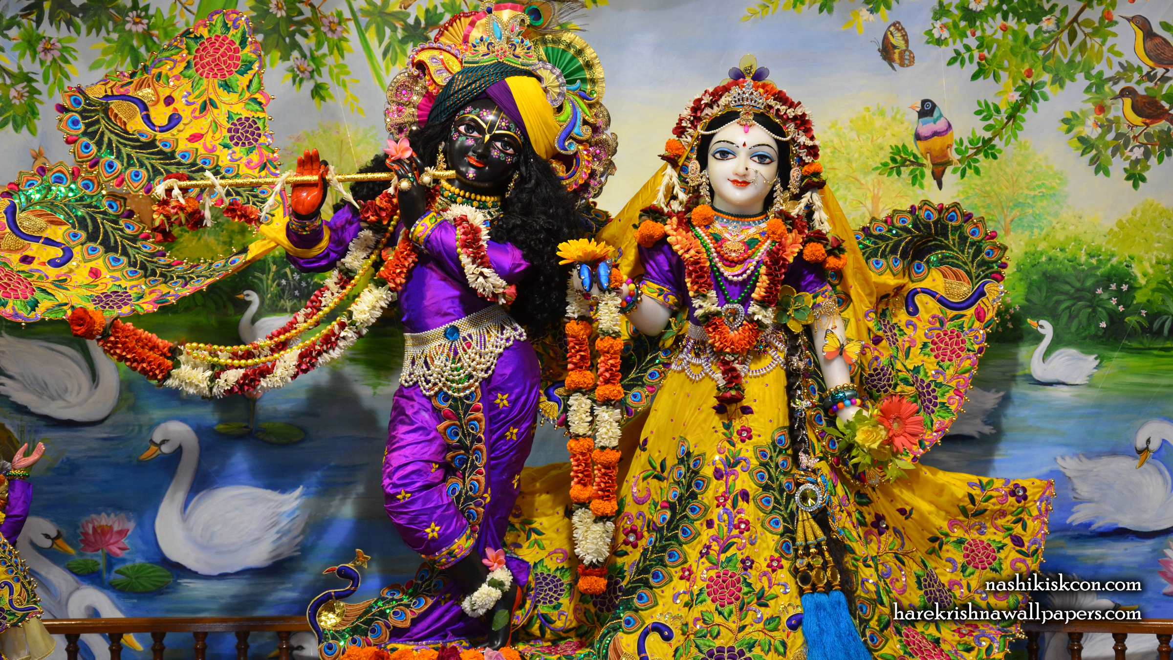 Sri Sri Radha Madan Gopal Wallpaper (009) Size 2400x1350 Download