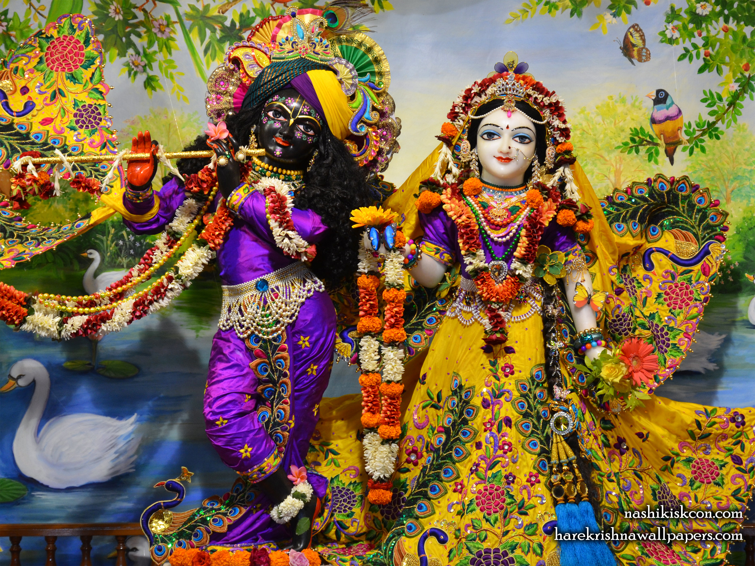 Sri Sri Radha Madan Gopal Wallpaper (009) Size 2400x1800 Download