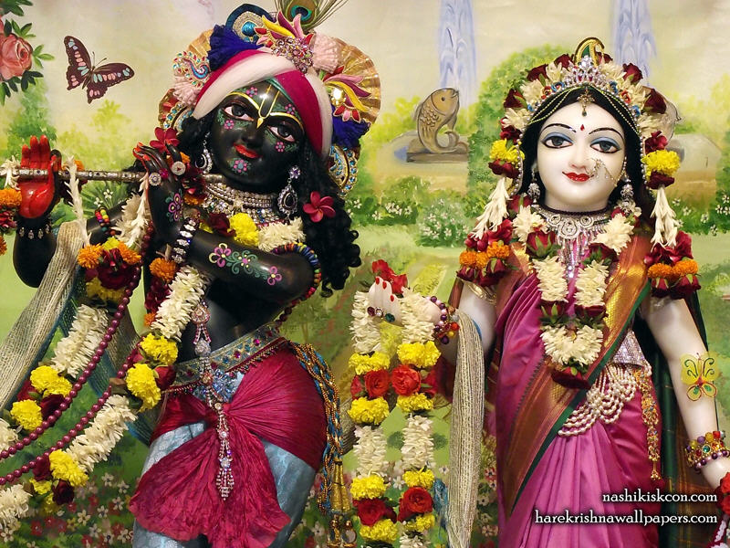 Sri Sri Radha Madan Gopal Close up Wallpaper (009)