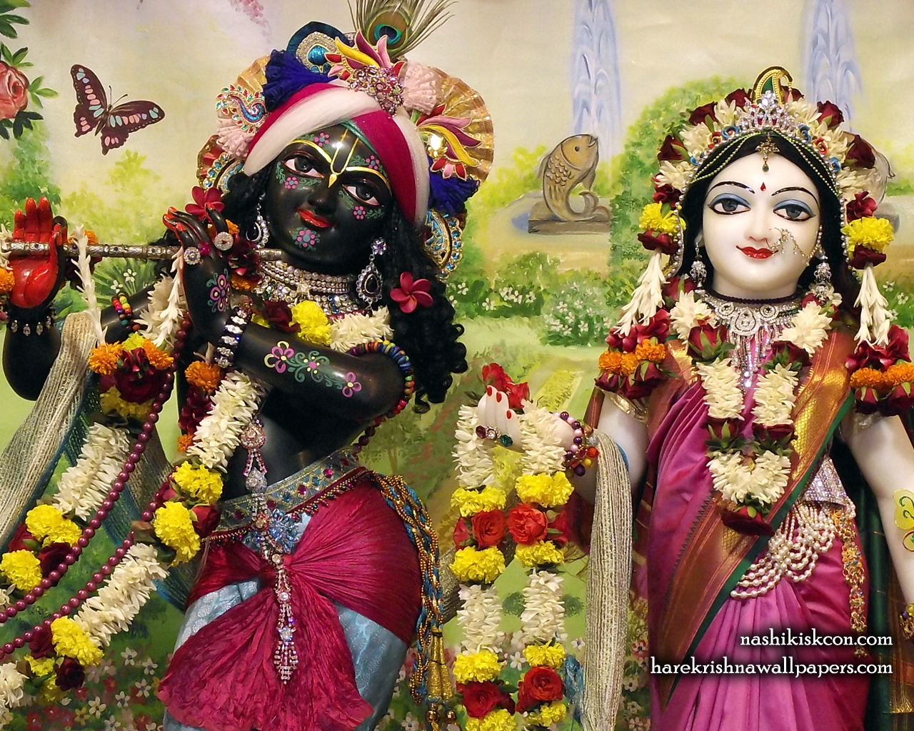 Sri Sri Radha Madan Gopal Close up Wallpaper (009) Size 1280x1024 Download