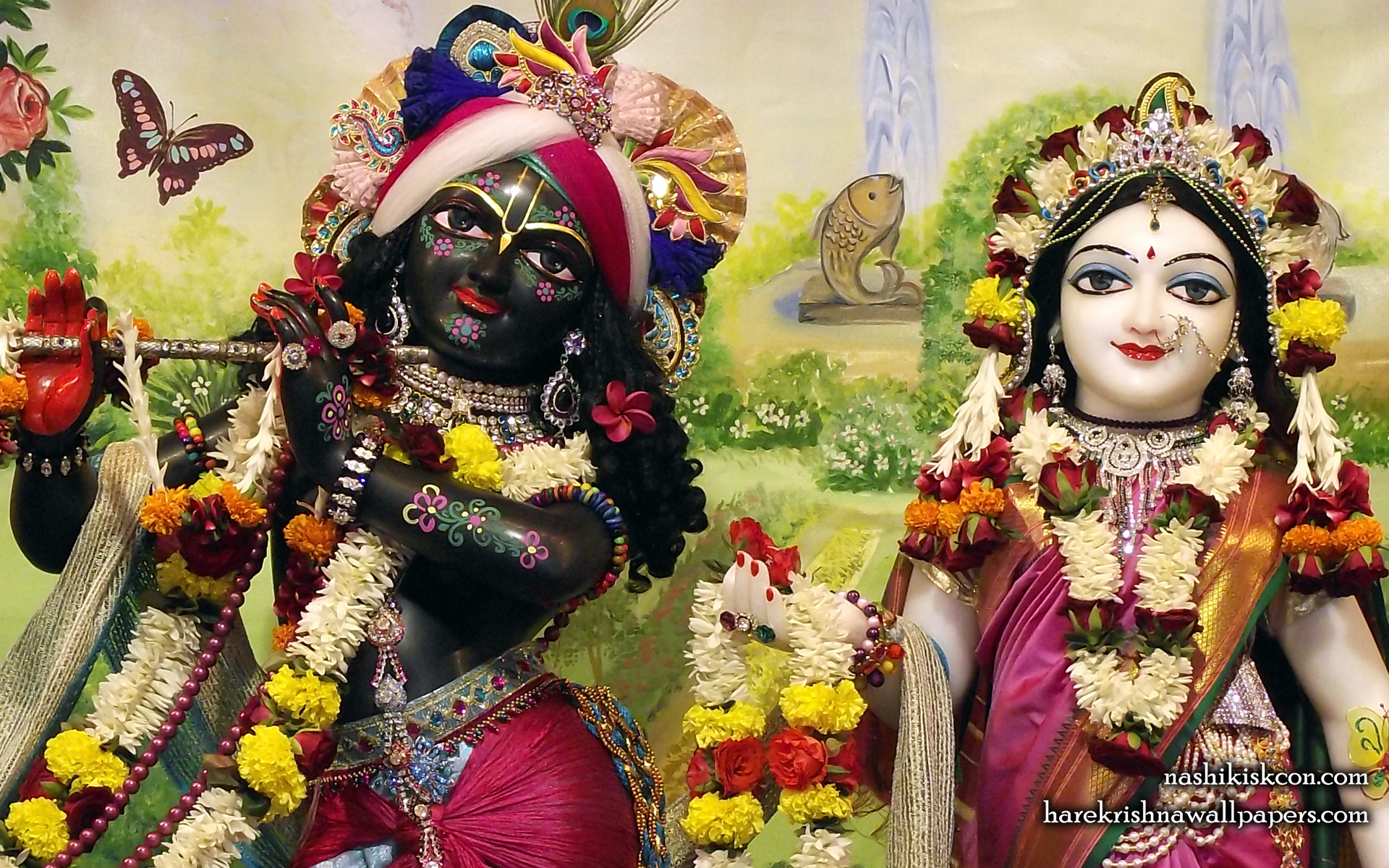 Sri Sri Radha Madan Gopal Close up Wallpaper (009) Size 1920x1200 Download