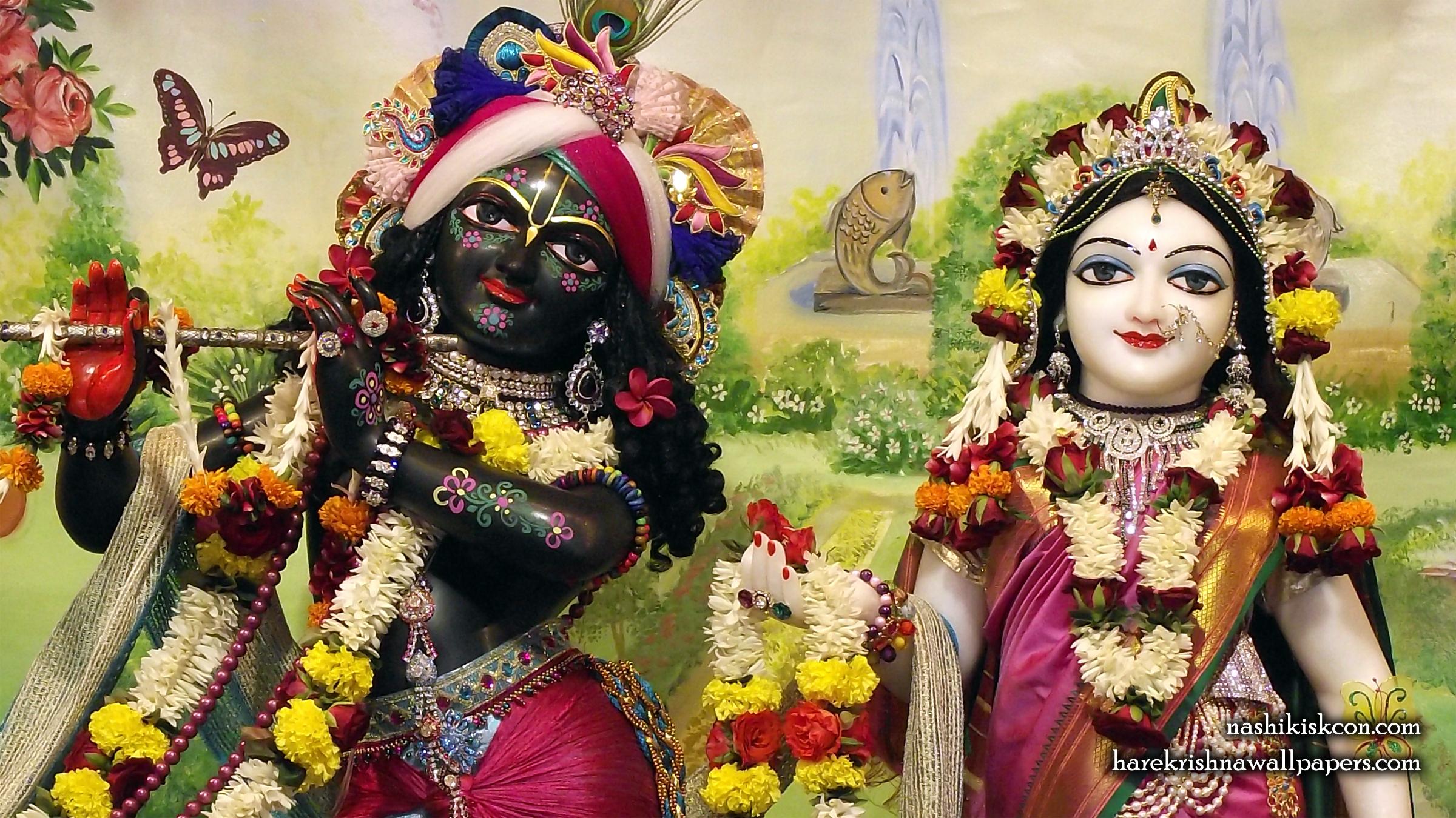 Sri Sri Radha Madan Gopal Close up Wallpaper (009) Size 2400x1350 Download