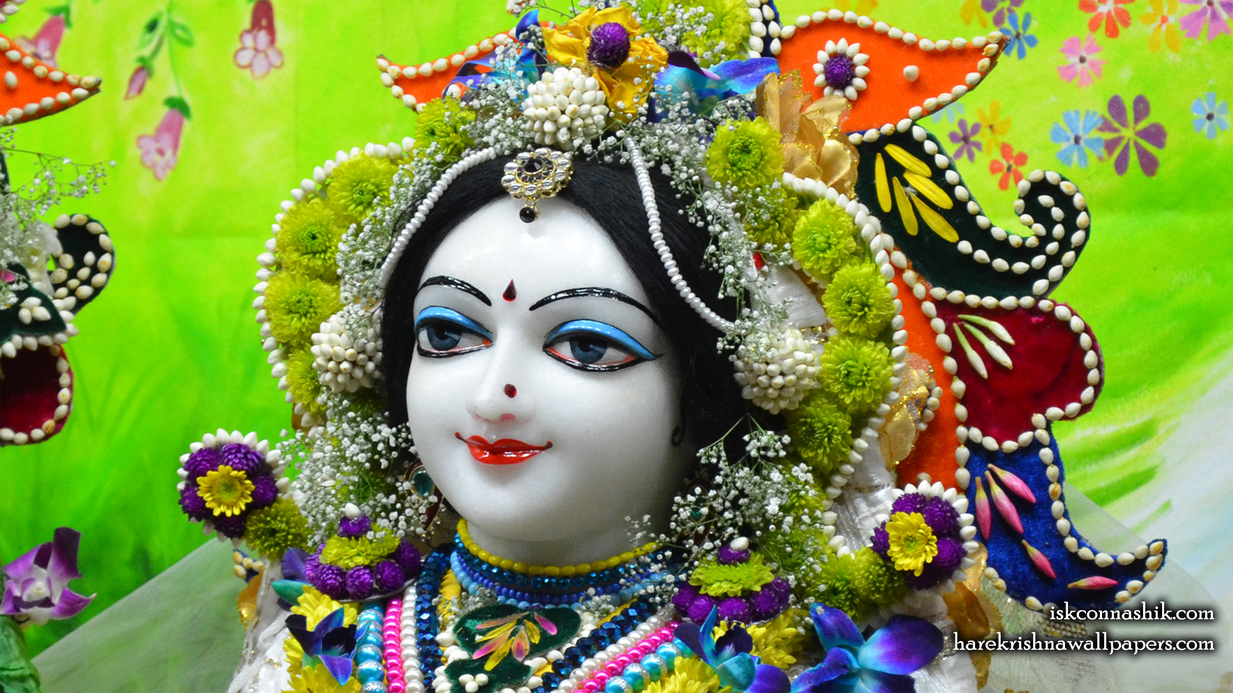 Sri Radha Close up Wallpaper (010) Size 2400x1350 Download