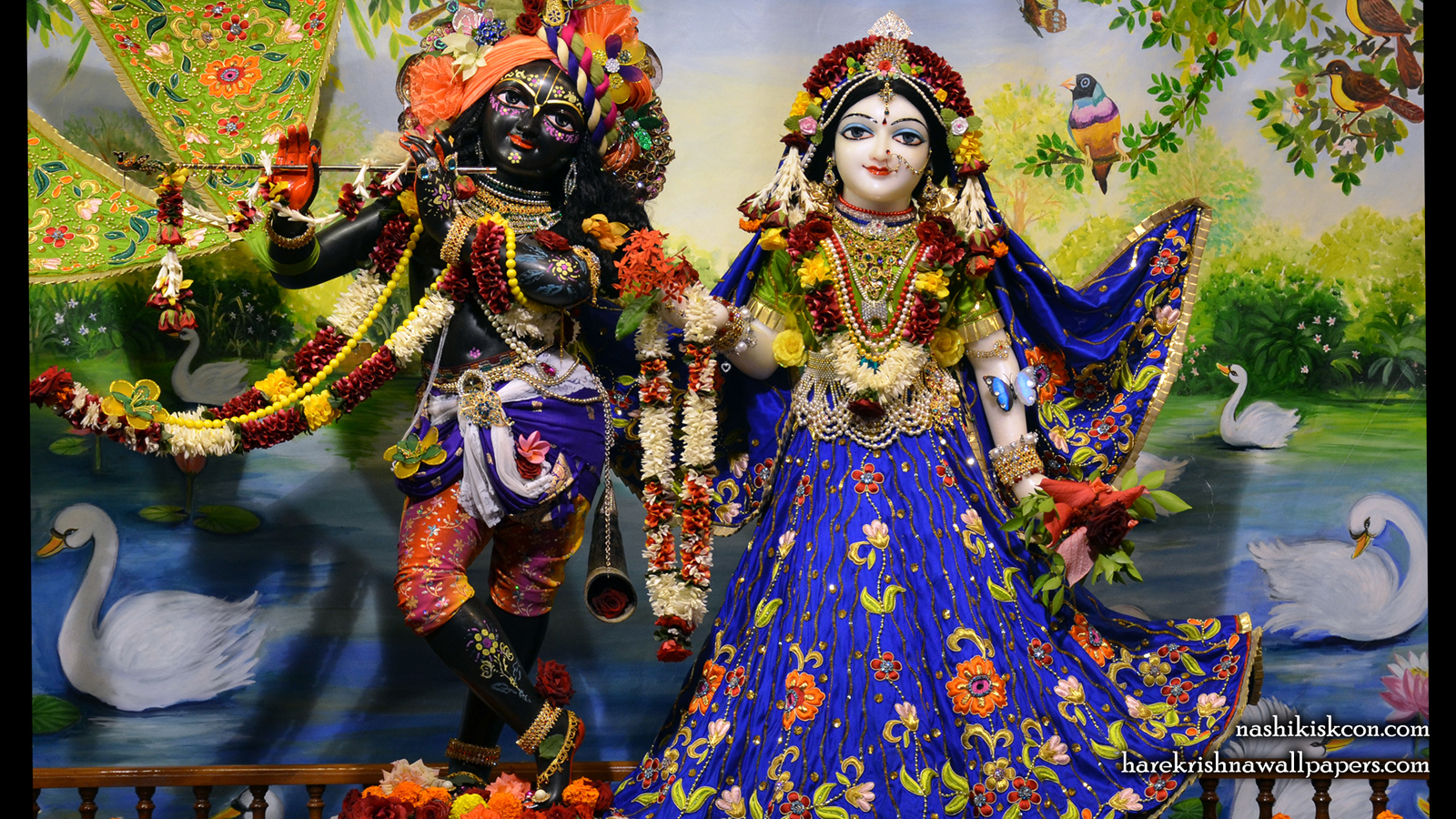 Sri Sri Radha Madan Gopal Wallpaper (010) Size 1600x900 Download