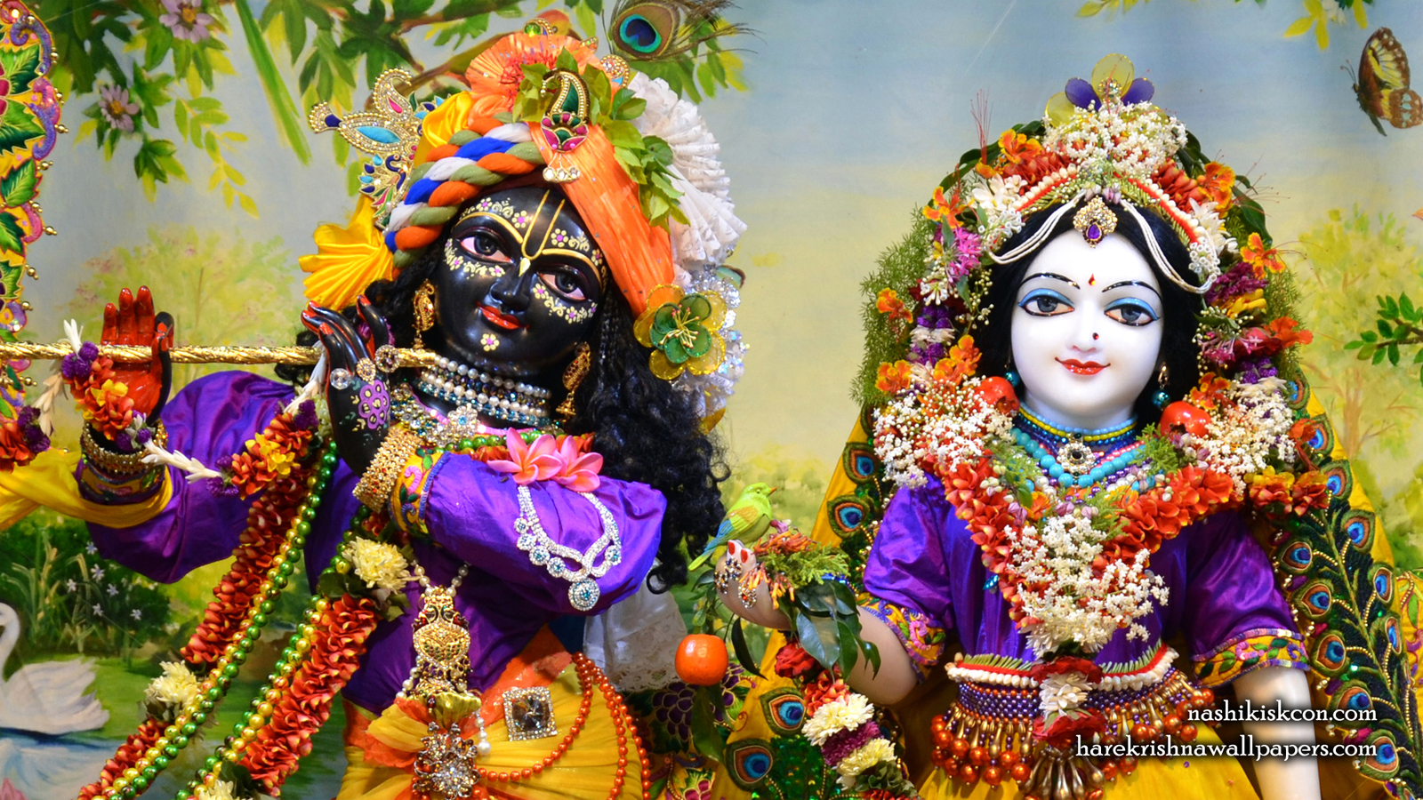 Sri Sri Radha Madan Gopal Close up Wallpaper (010) Size 1600x900 Download