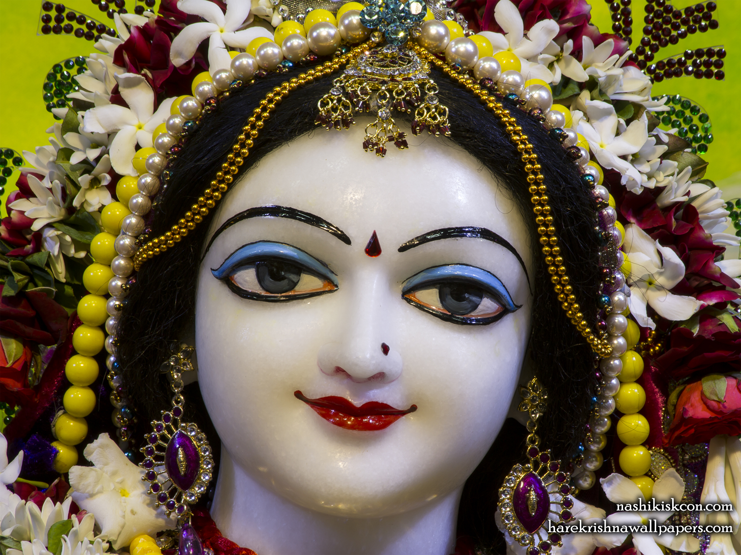 Sri Radha Close up Wallpaper (011) Size 2400x1800 Download
