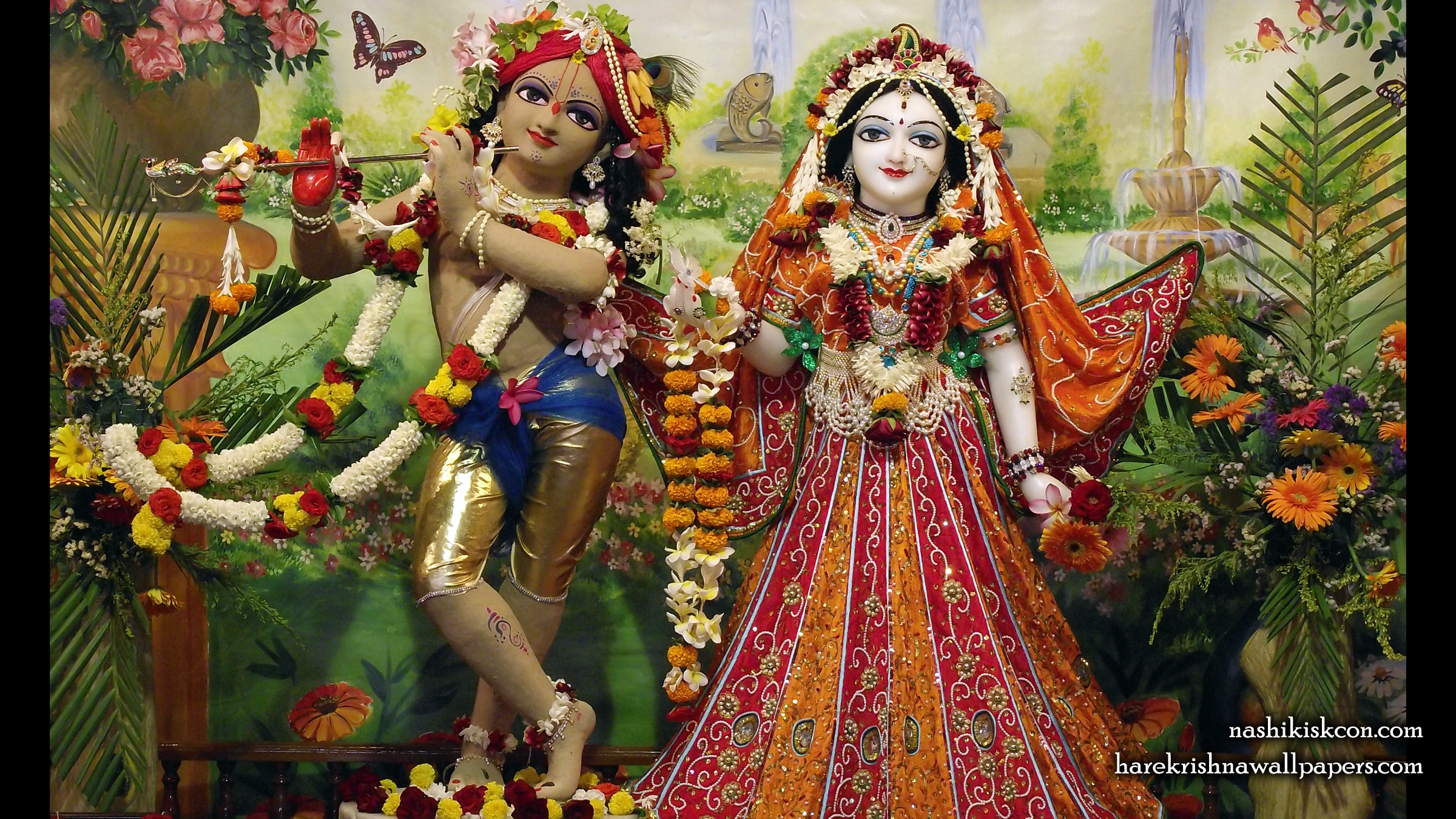 Sri Sri Radha Madan Gopal Wallpaper (011) Size 2400x1350 Download