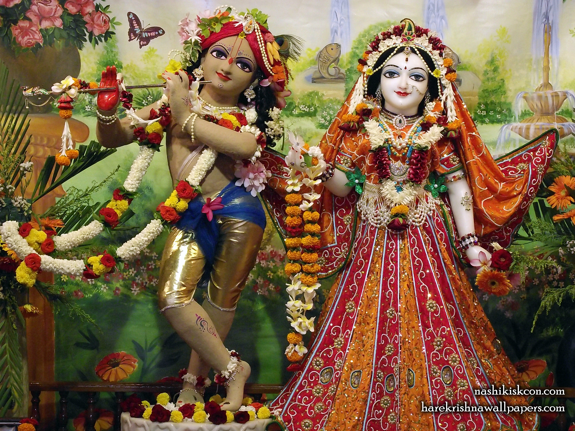 Sri Sri Radha Madan Gopal Wallpaper (011) Size 2400x1800 Download