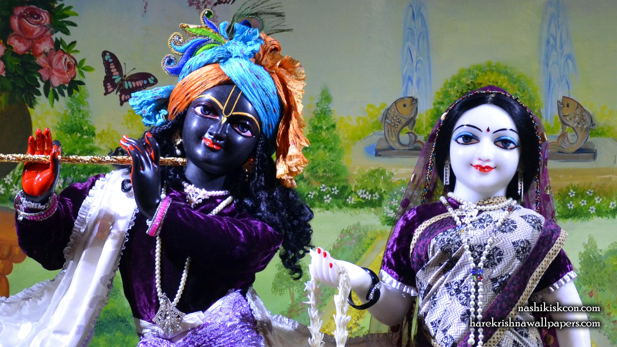 Sri Sri Radha Madan Gopal Close up Wallpaper (011) Size 2400x1350 Download