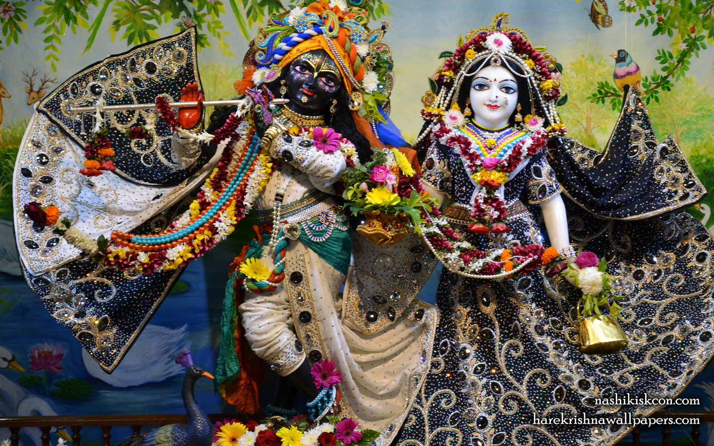 Sri Sri Radha Madan Gopal Wallpaper (012) Size 1440x900 Download