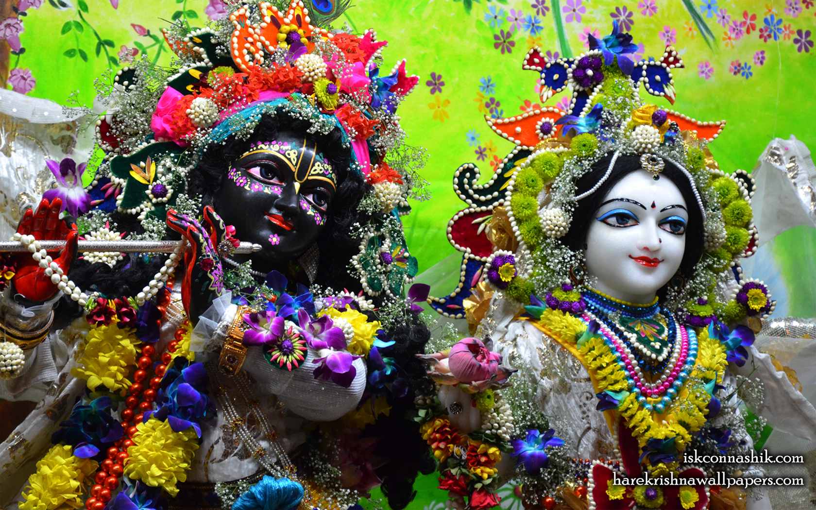 Sri Sri Radha Madan Gopal Close up Wallpaper (012) Size 1680x1050 Download