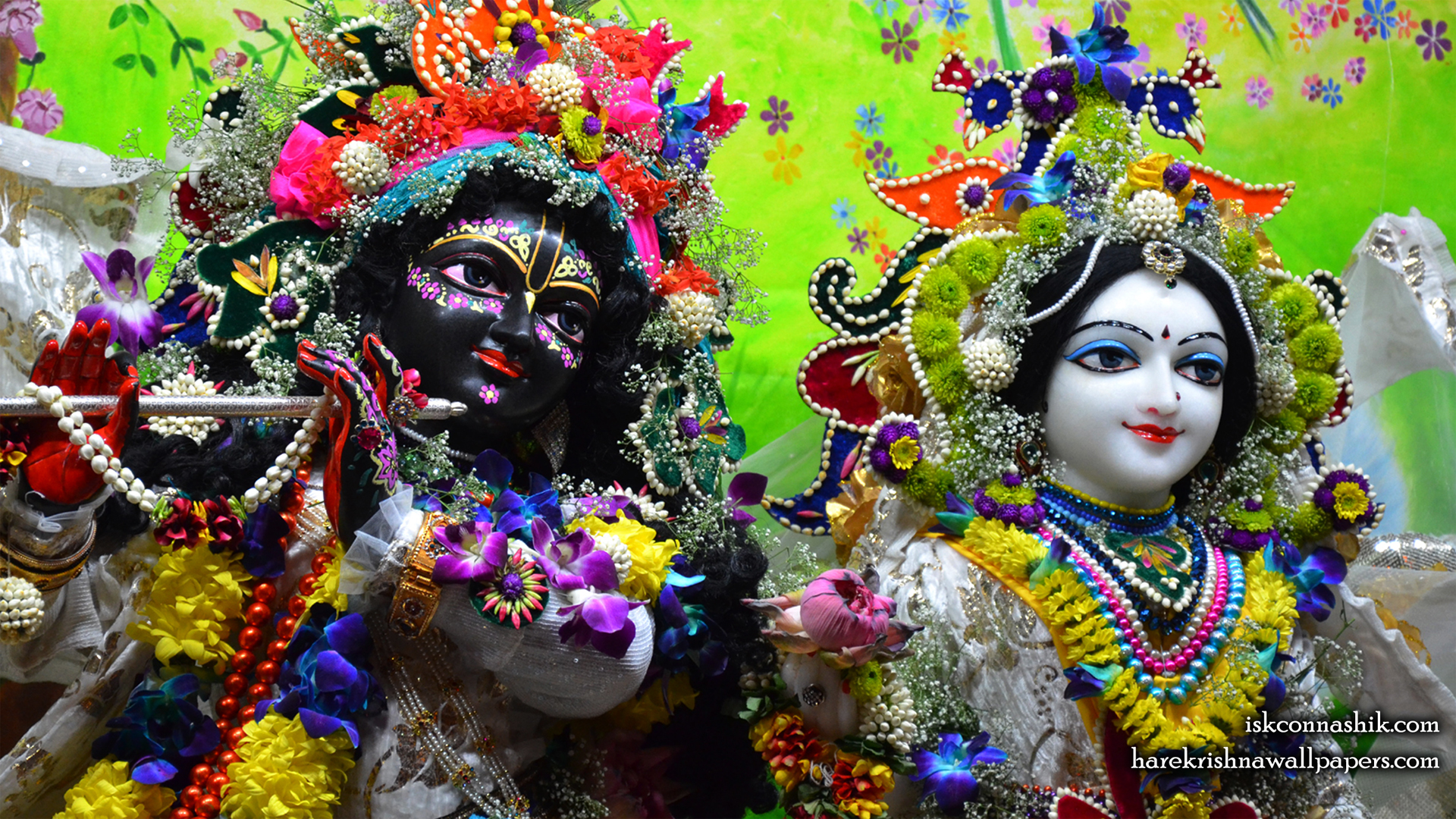 Sri Sri Radha Madan Gopal Close up Wallpaper (012) Size 1920x1080 Download