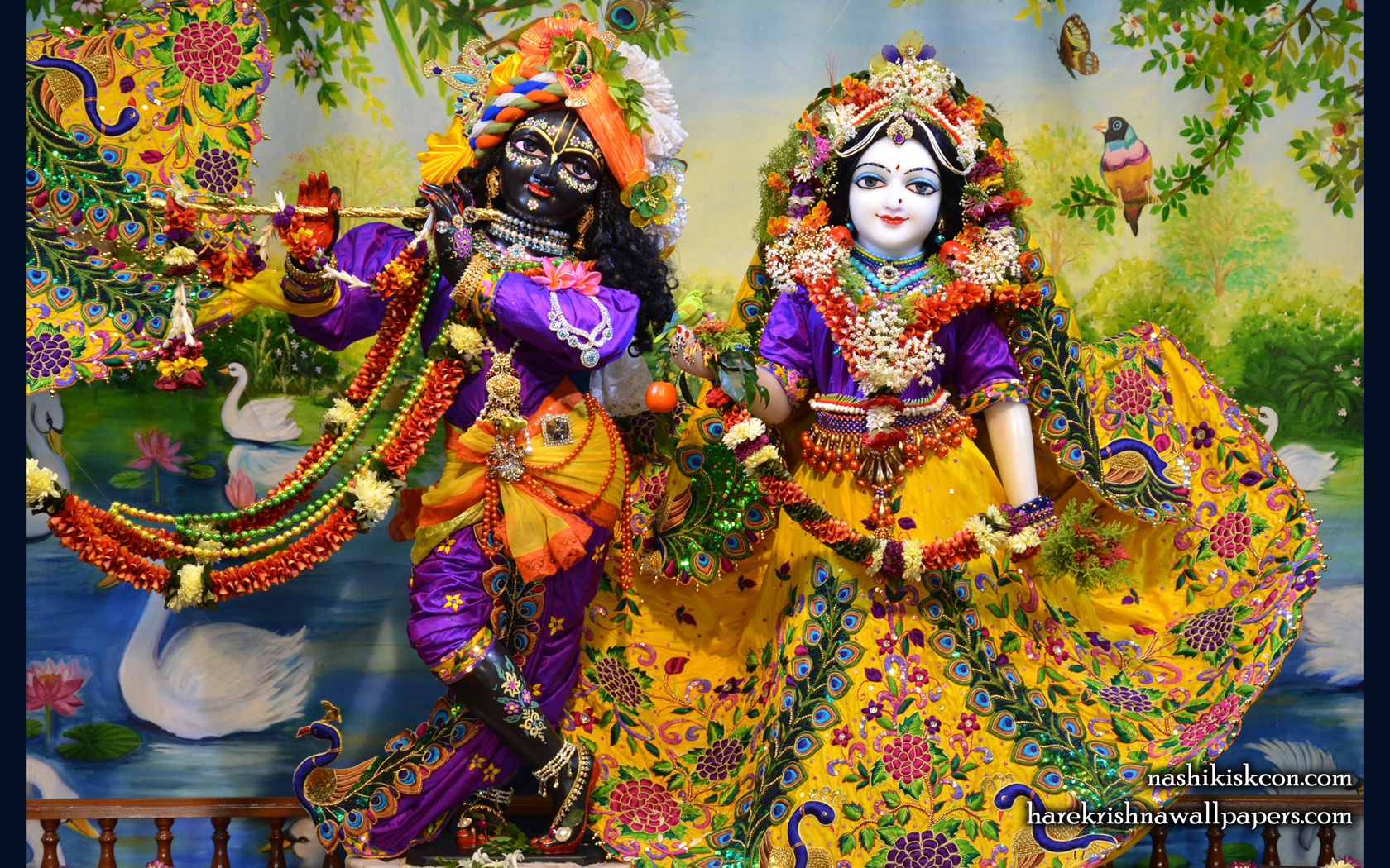 Sri Sri Radha Madan Gopal Wallpaper (013) Size 1680x1050 Download