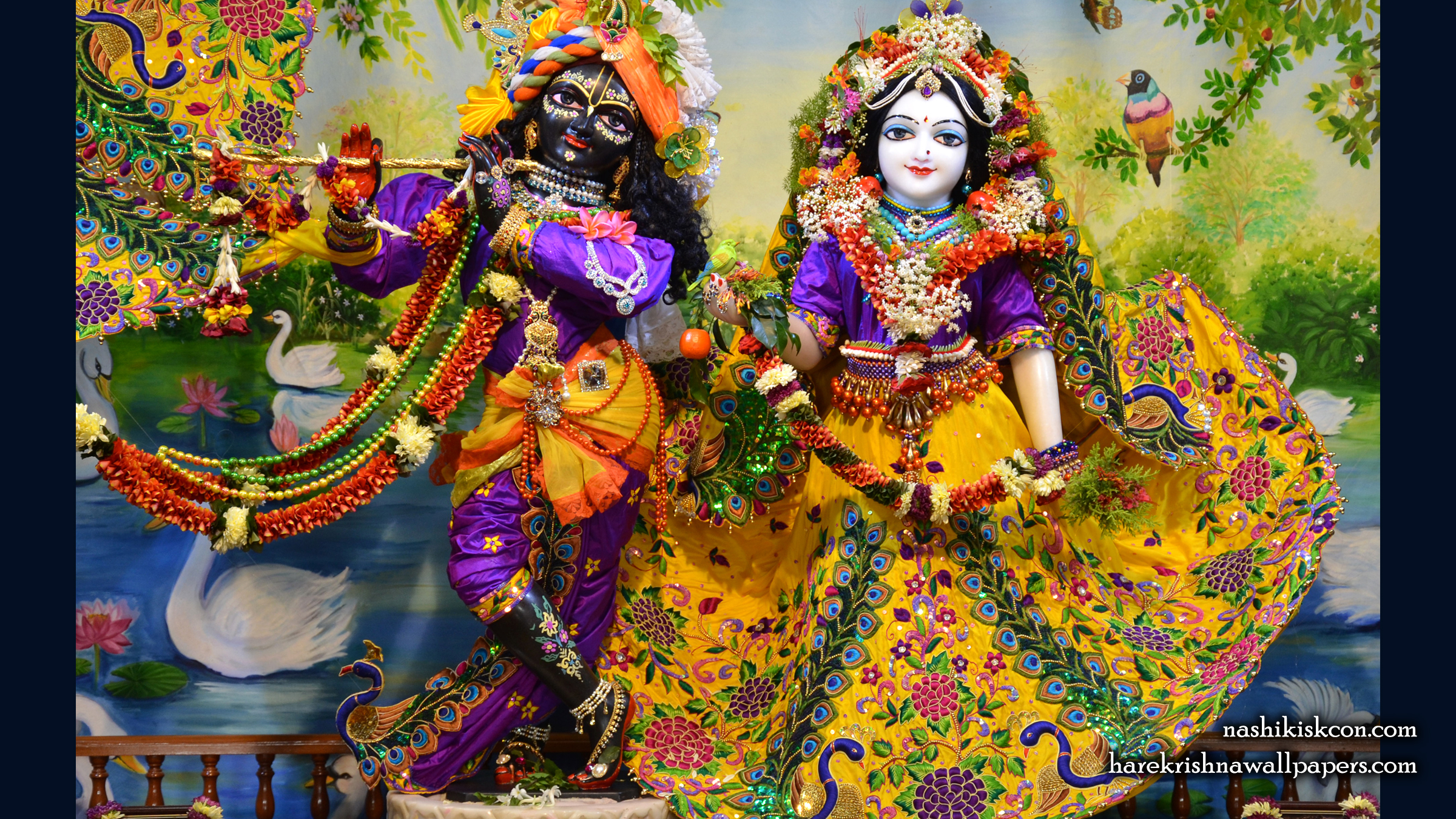 Sri Sri Radha Madan Gopal Wallpaper (013) Size 2400x1350 Download