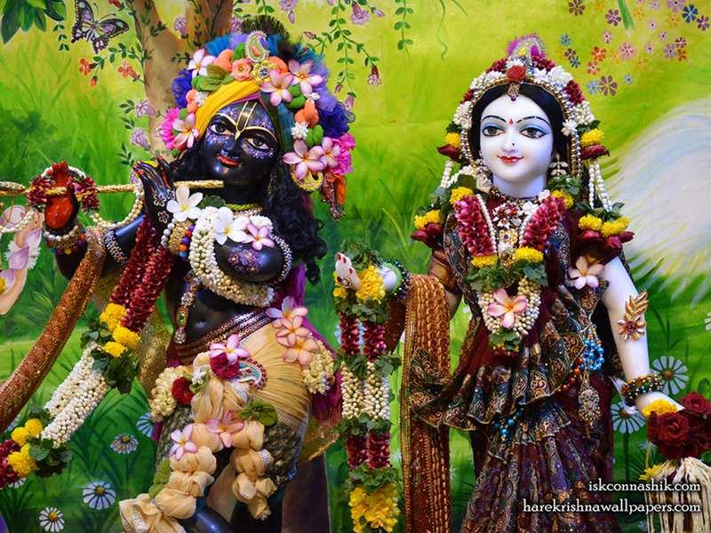 Sri Sri Radha Madan Gopal Close up Wallpaper (013)