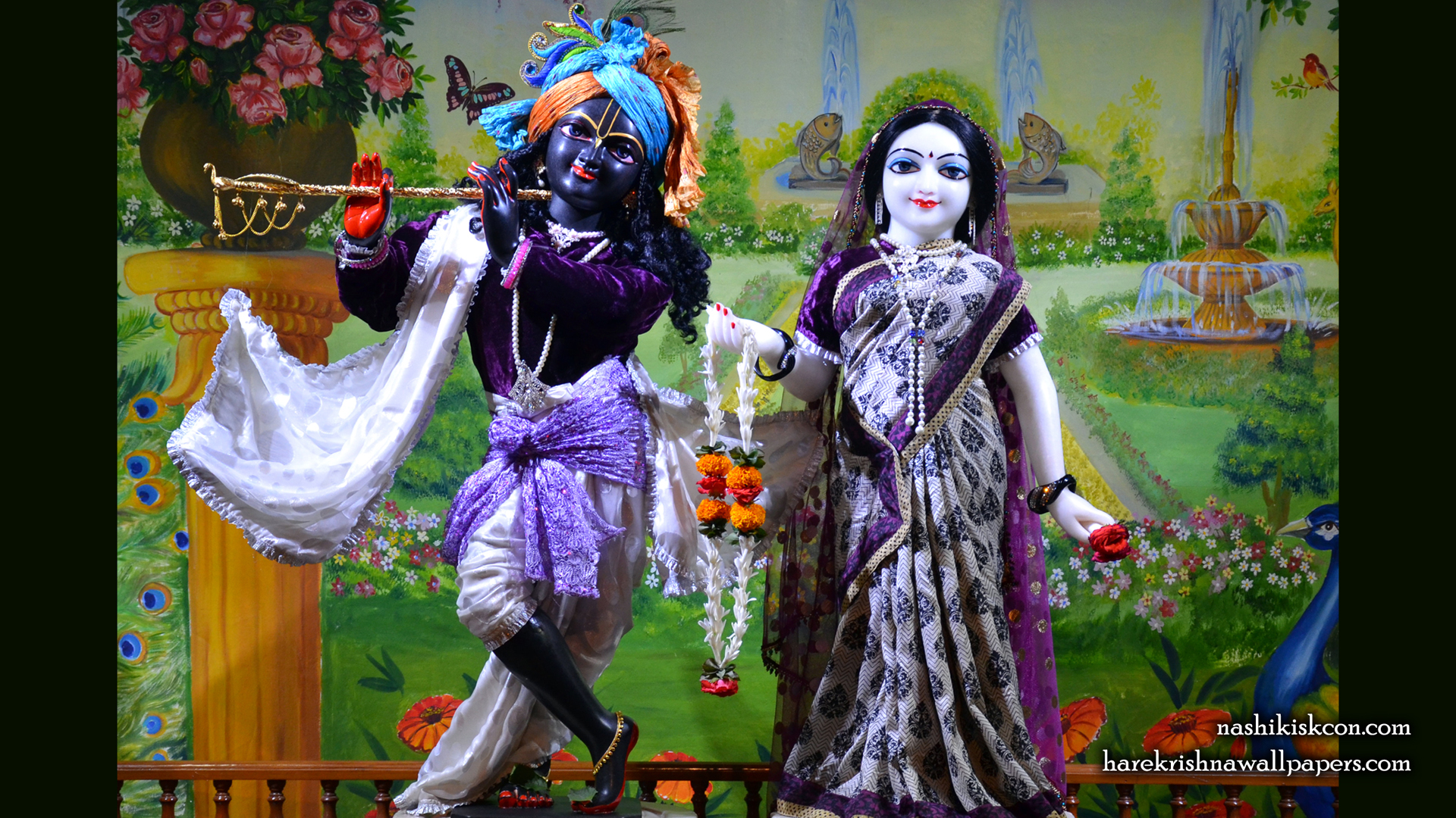 Sri Sri Radha Madan Gopal Wallpaper (014) Size 1920x1080 Download