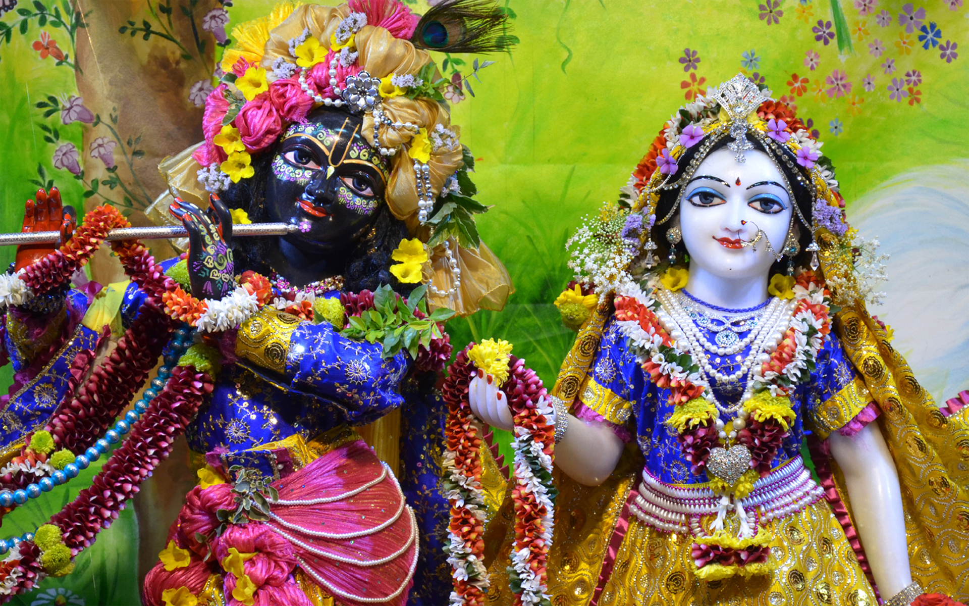 Sri Sri Radha Madan Gopal Close up Wallpaper (014) Size 1920x1200 Download