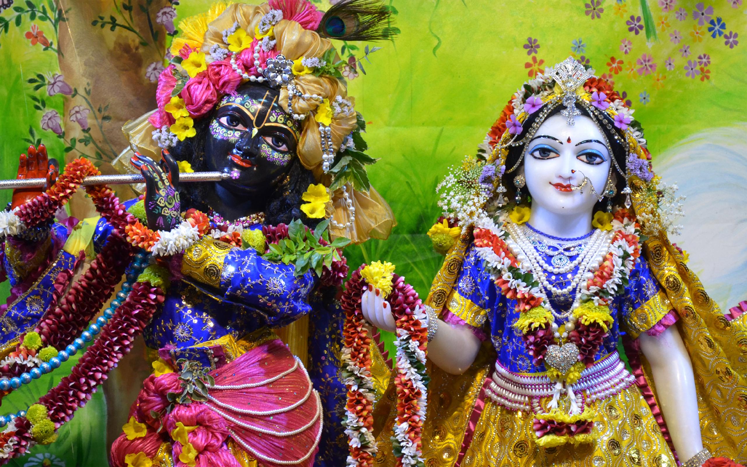 Sri Sri Radha Madan Gopal Close up Wallpaper (014) Size 2560x1600 Download