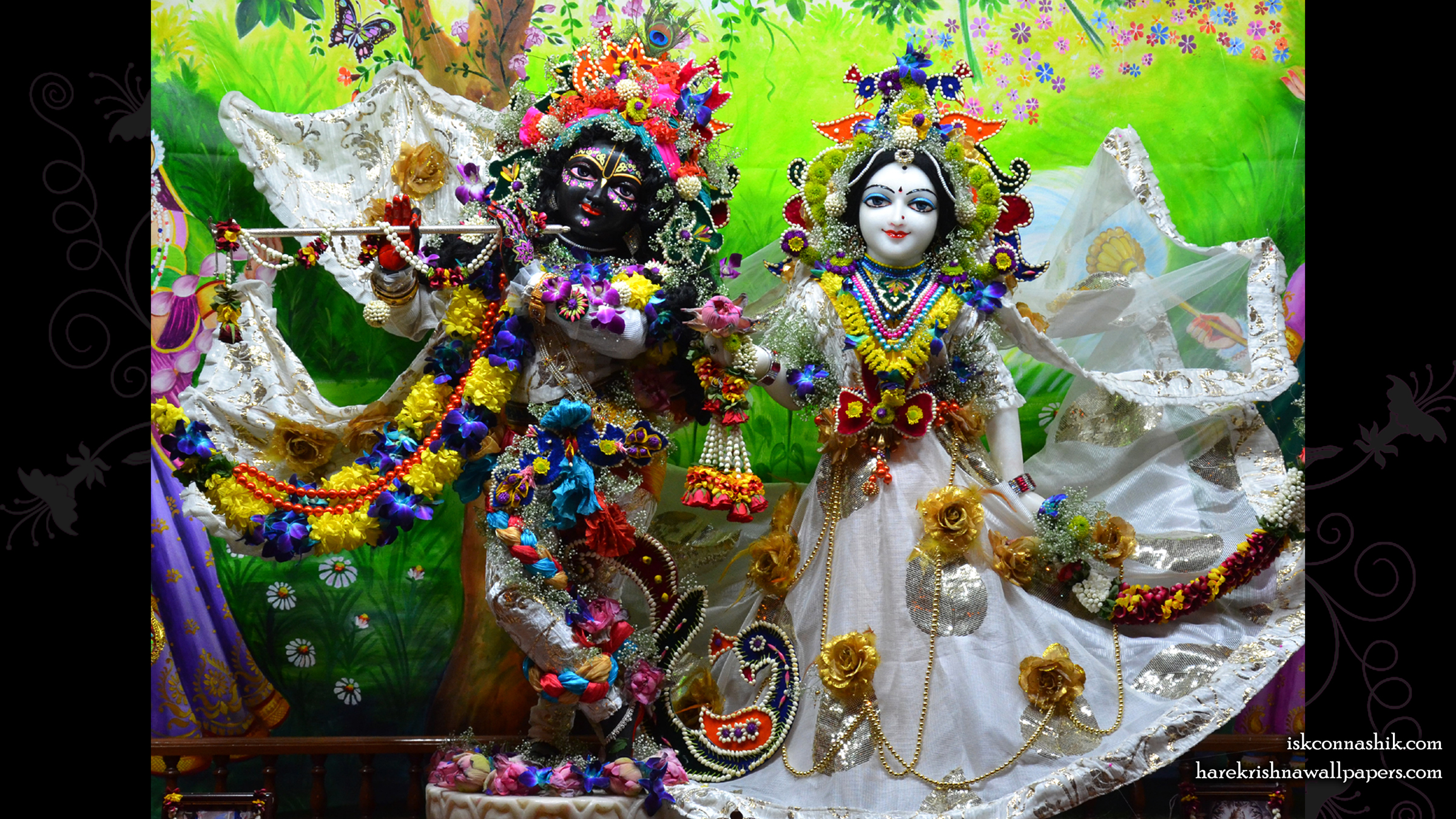 Sri Sri Radha Madan Gopal Wallpaper (015) Size 2400x1350 Download