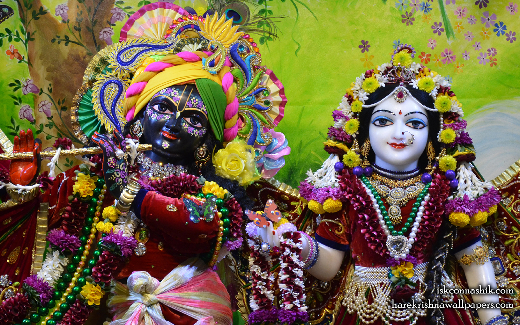 Sri Sri Radha Madan Gopal Close up Wallpaper (015) Size 1680x1050 Download