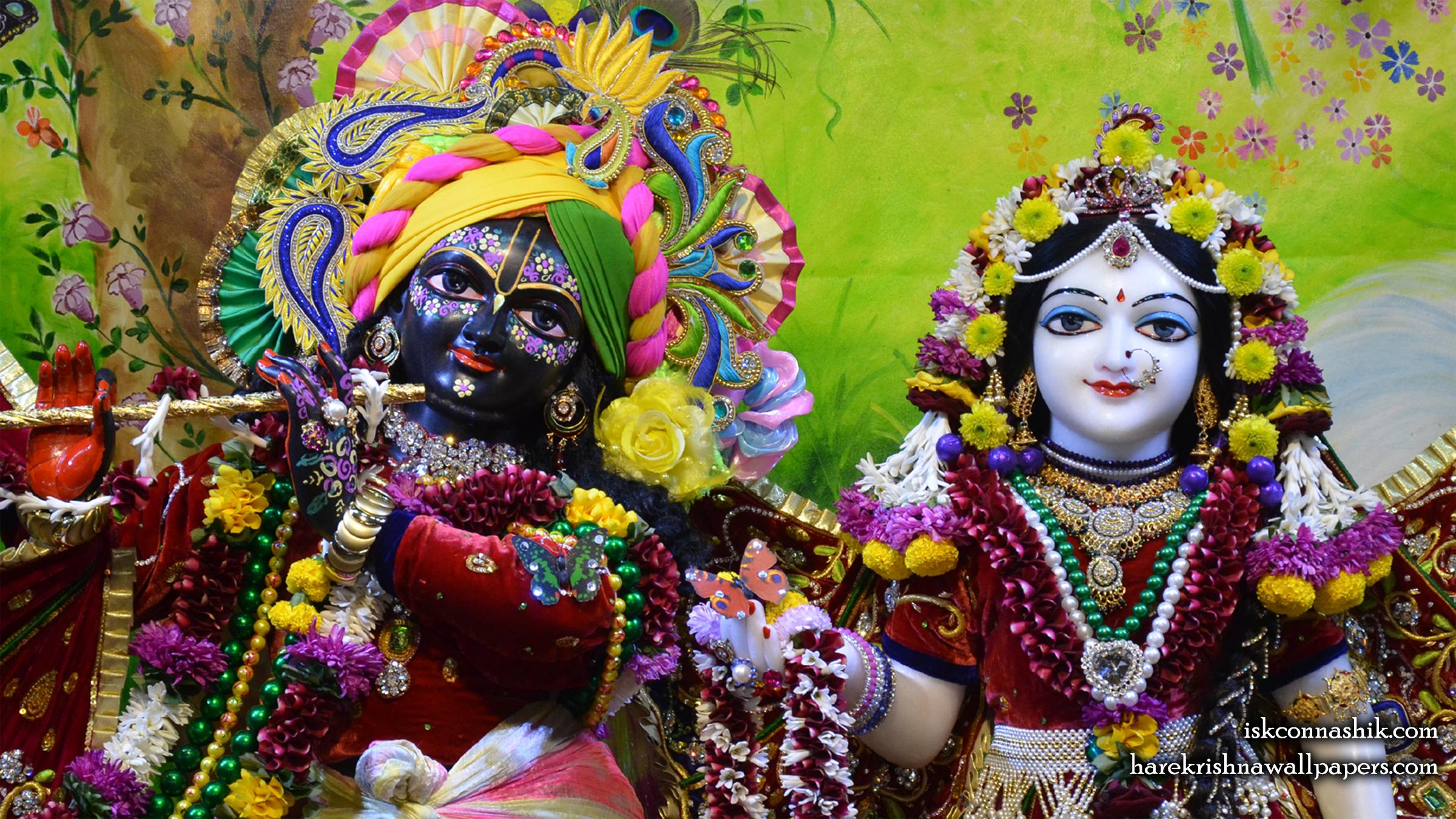Sri Sri Radha Madan Gopal Close up Wallpaper (015) Size 2400x1350 Download