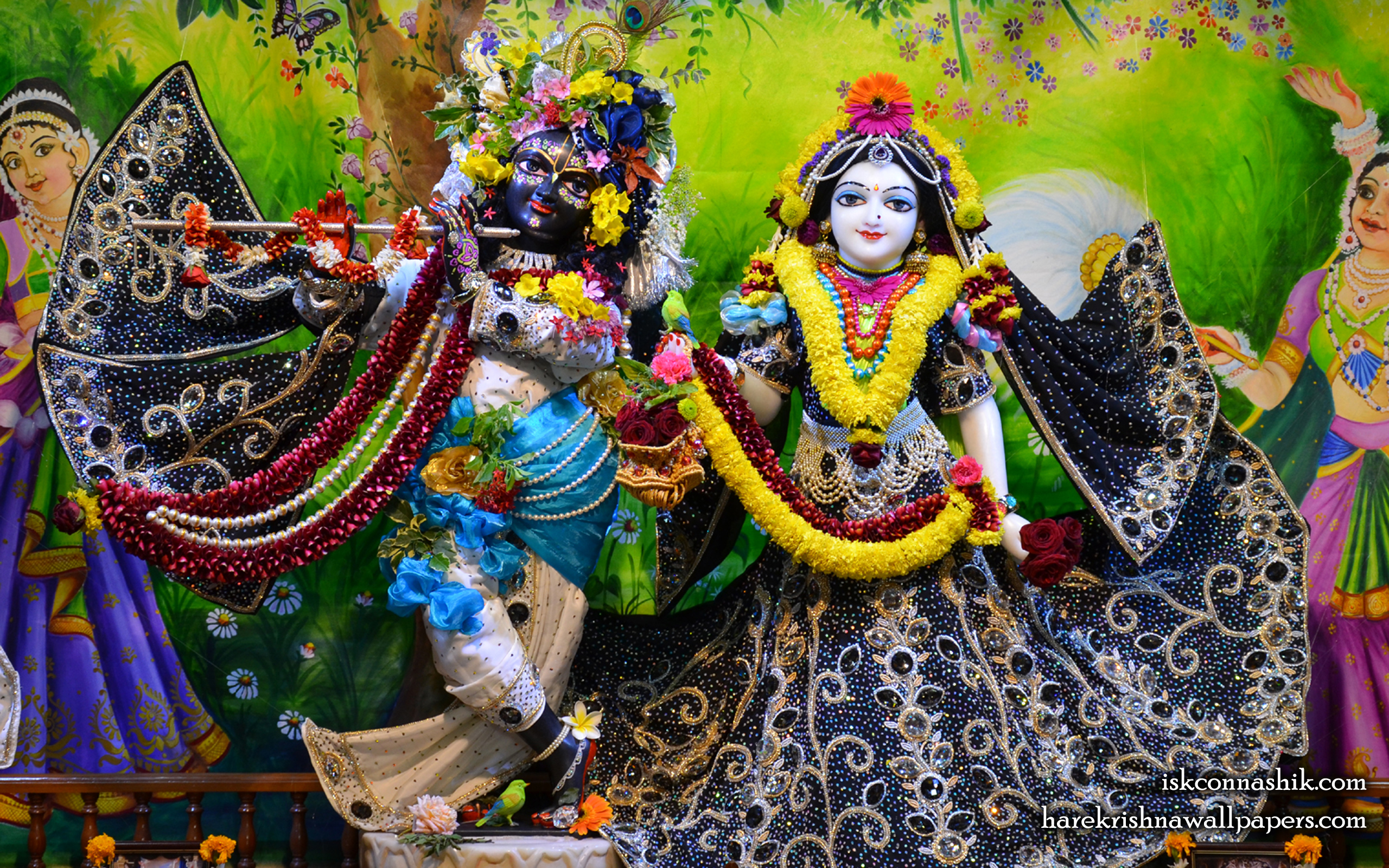 Sri Sri Radha Madan Gopal Wallpaper (016) Size 2560x1600 Download