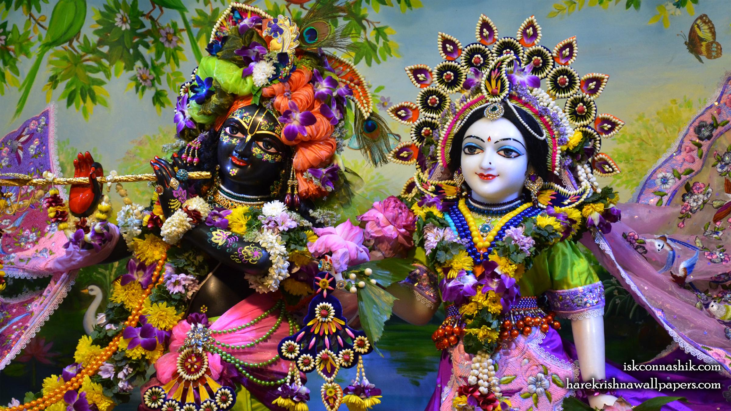 Sri Sri Radha Madan Gopal Close up Wallpaper (016) Size 2400x1350 Download