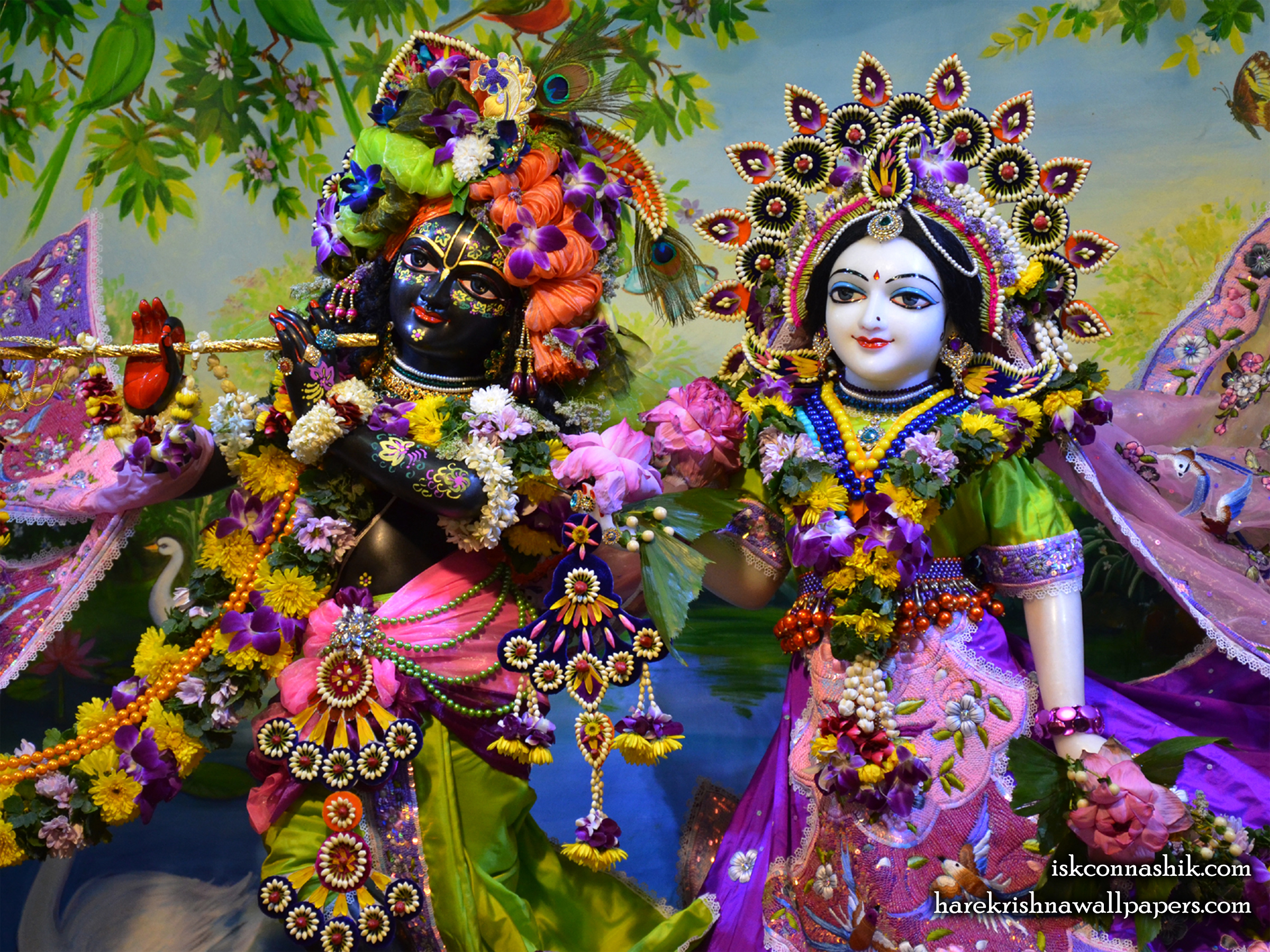 Sri Sri Radha Madan Gopal Close up Wallpaper (016) Size 2400x1800 Download