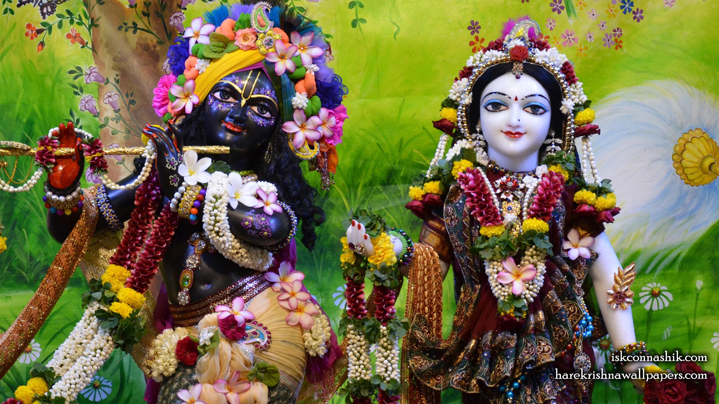 Sri Sri Radha Madan Gopal Close up Wallpaper (017) Size 2400x1350 Download